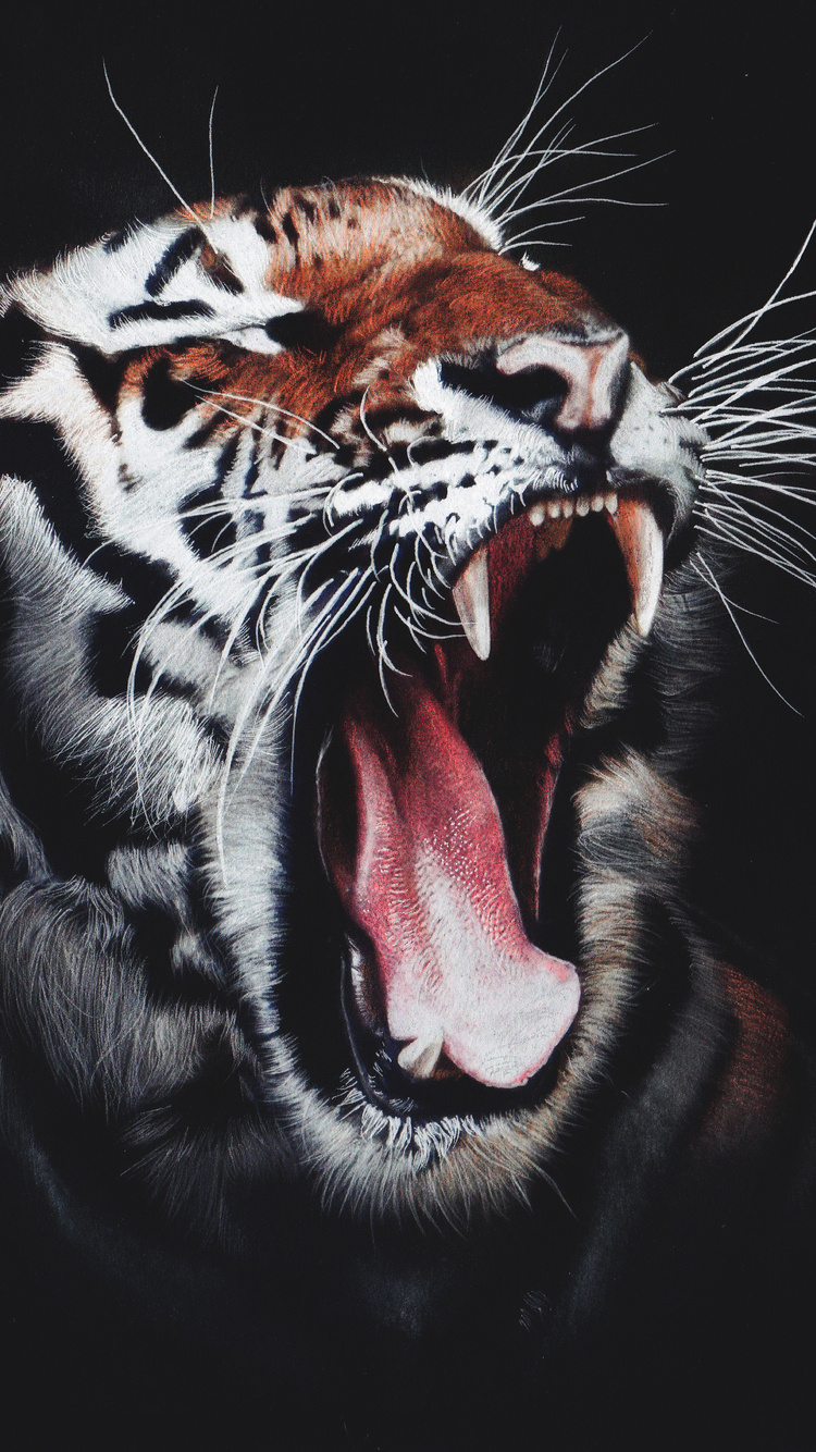 750x1334 Tiger Roar Iphone 6 Iphone 6s Iphone 7 Hd 4k