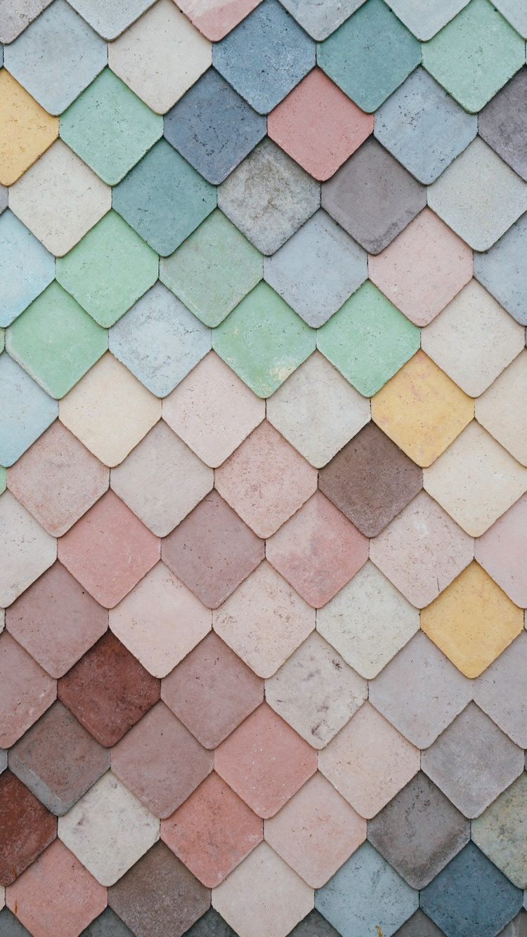 750x1334 Tile Pattern Pastel 5k Iphone 6 Iphone 6s Iphone