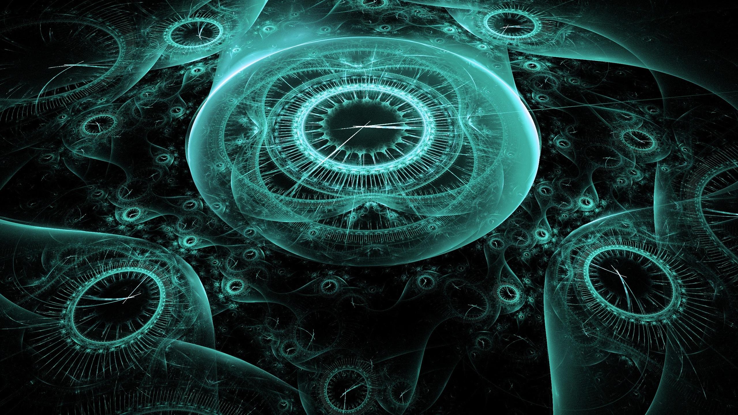 2560x1440 time clock digital creative illustration 1440p resolution