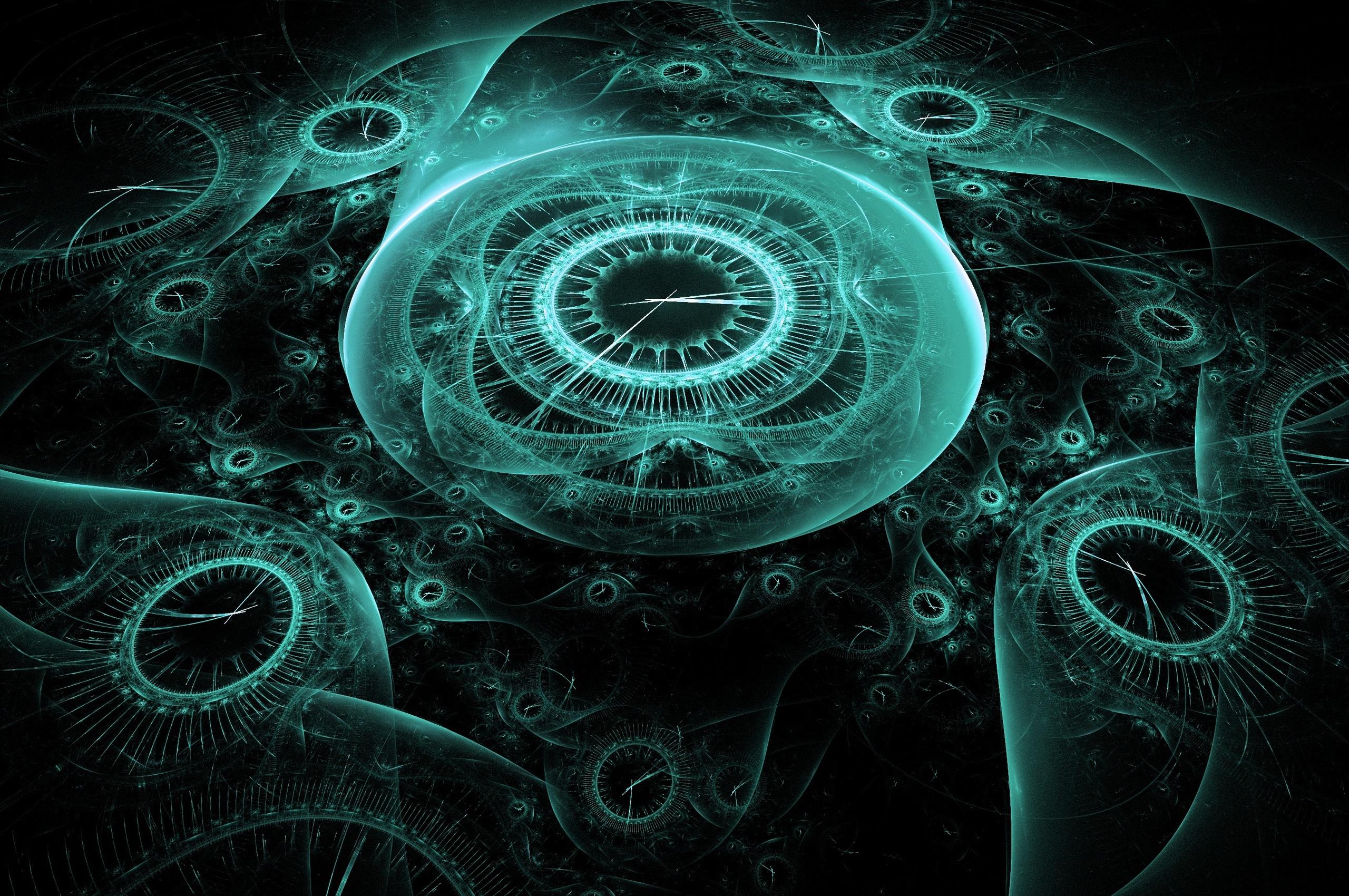 2560x1700 Time Clock Digital Creative Illustration