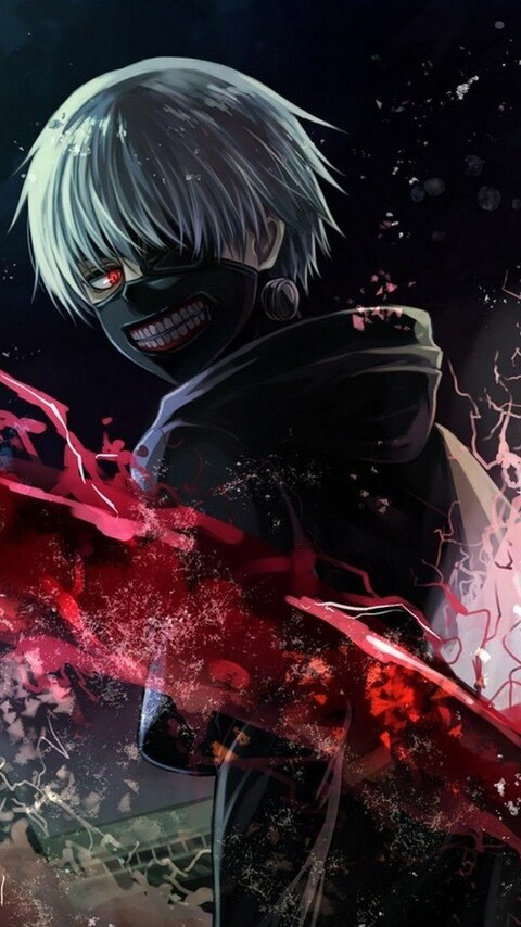 480x854 tokyo ghoul art android one hd 4k wallpapers - Download anime wallpaper hd for android ...