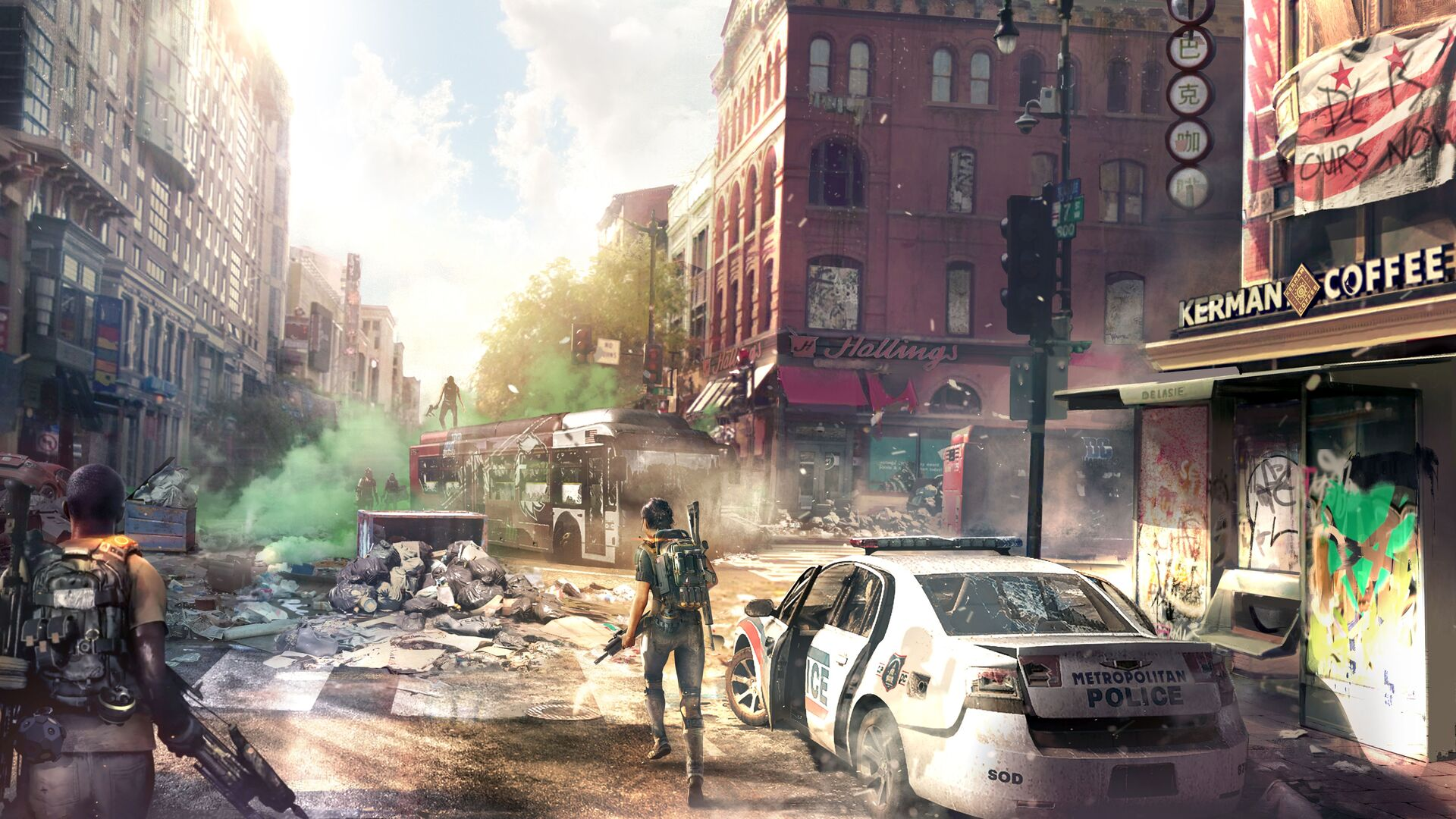 1920x1080 Tom Clancys The Division 2 Concept Art Downtown 8k
