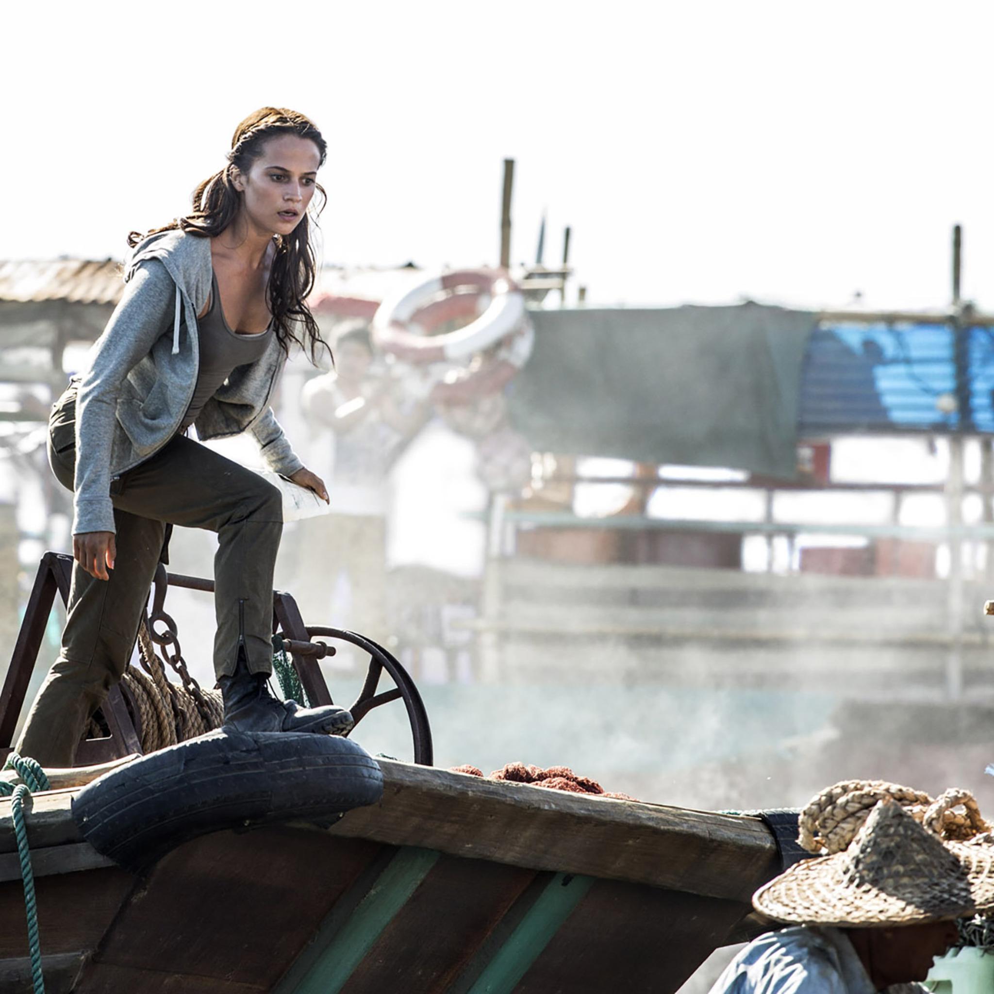 Wallpaper Tomb Raider 2018: 2048x2048 Tomb Raider 2018 Alicia Vikander Movie Ipad Air
