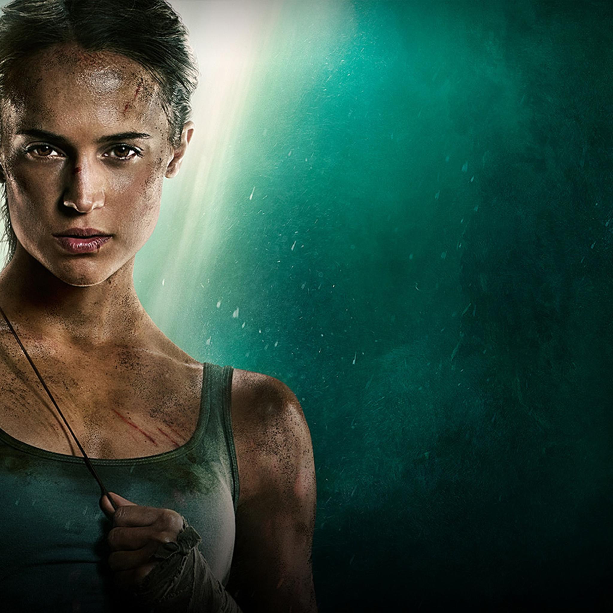 Wallpaper Tomb Raider 2018: 2048x2048 Tomb Raider 2018 Movie Alicia Vikander Poster
