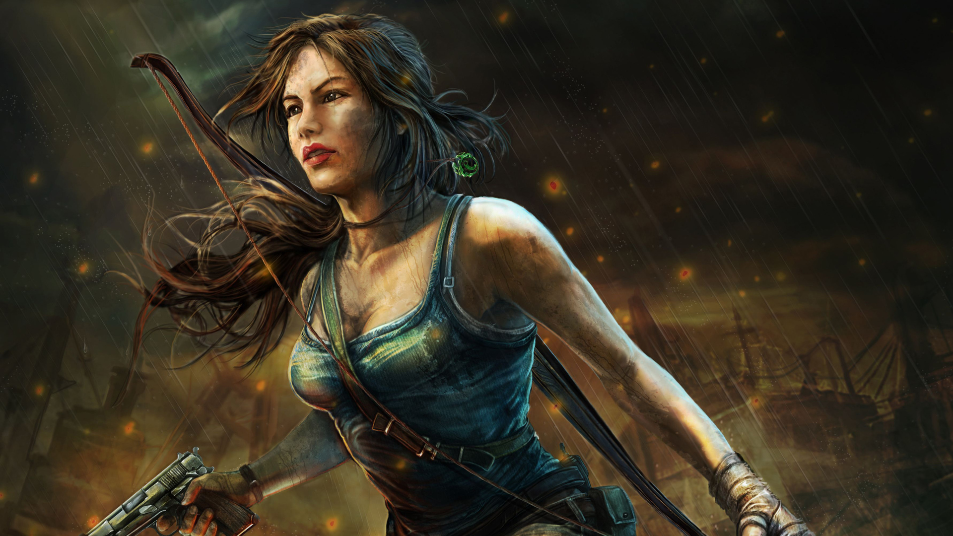 1920x1080 Tomb Raider 4k Art Laptop Full Hd 1080p Hd 4k Wallpapers