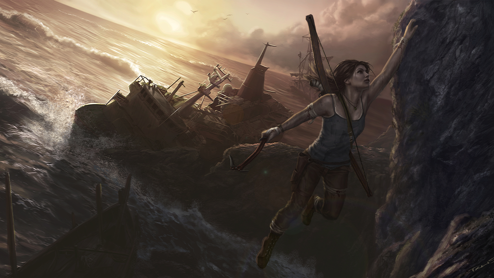 1920x1080 Tomb Raider 5k Artwork Laptop Full Hd 1080p Hd 4k