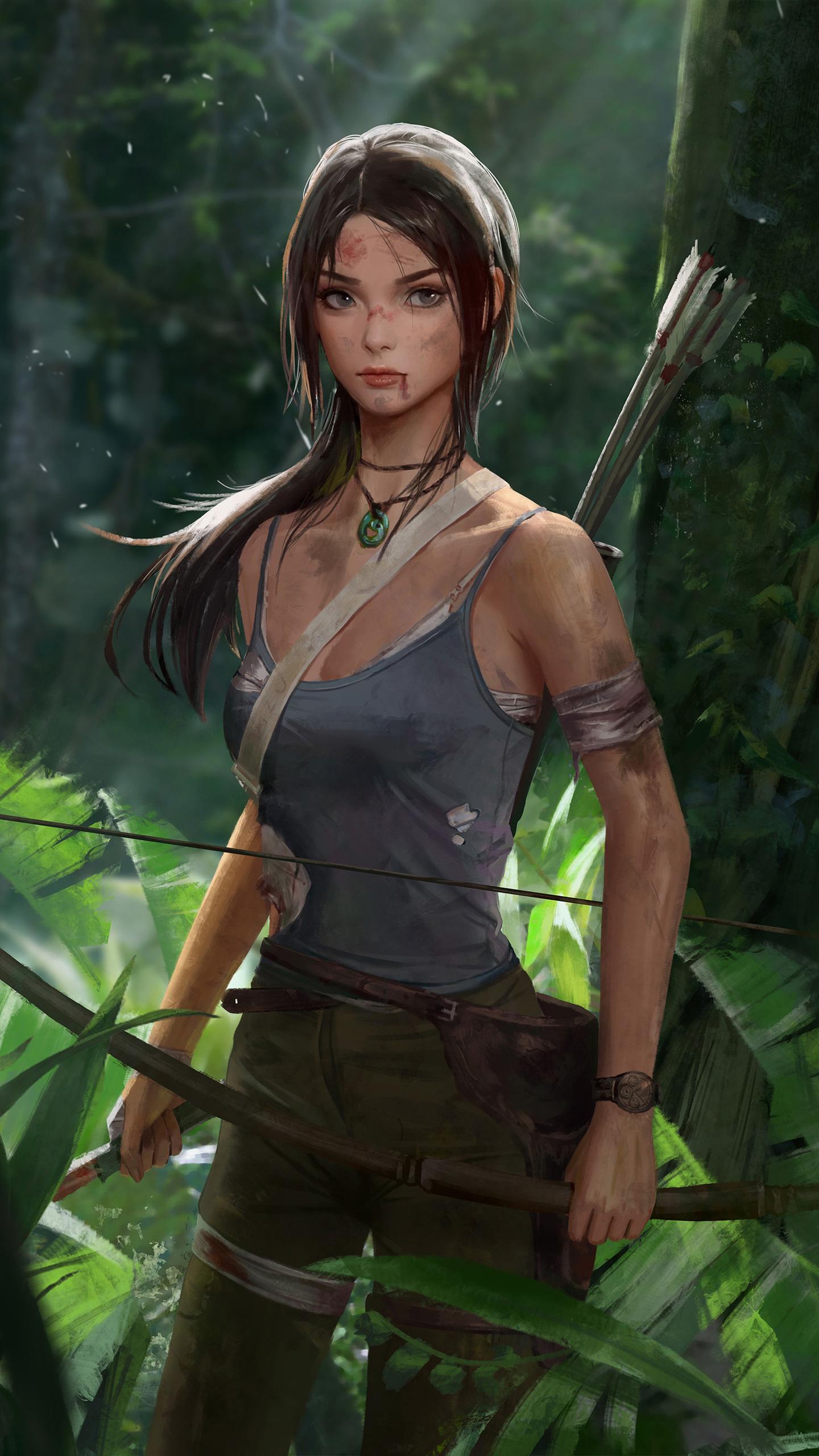 1440x2560 Tomb Raider Lara Croft Artwork Samsung Galaxy S6