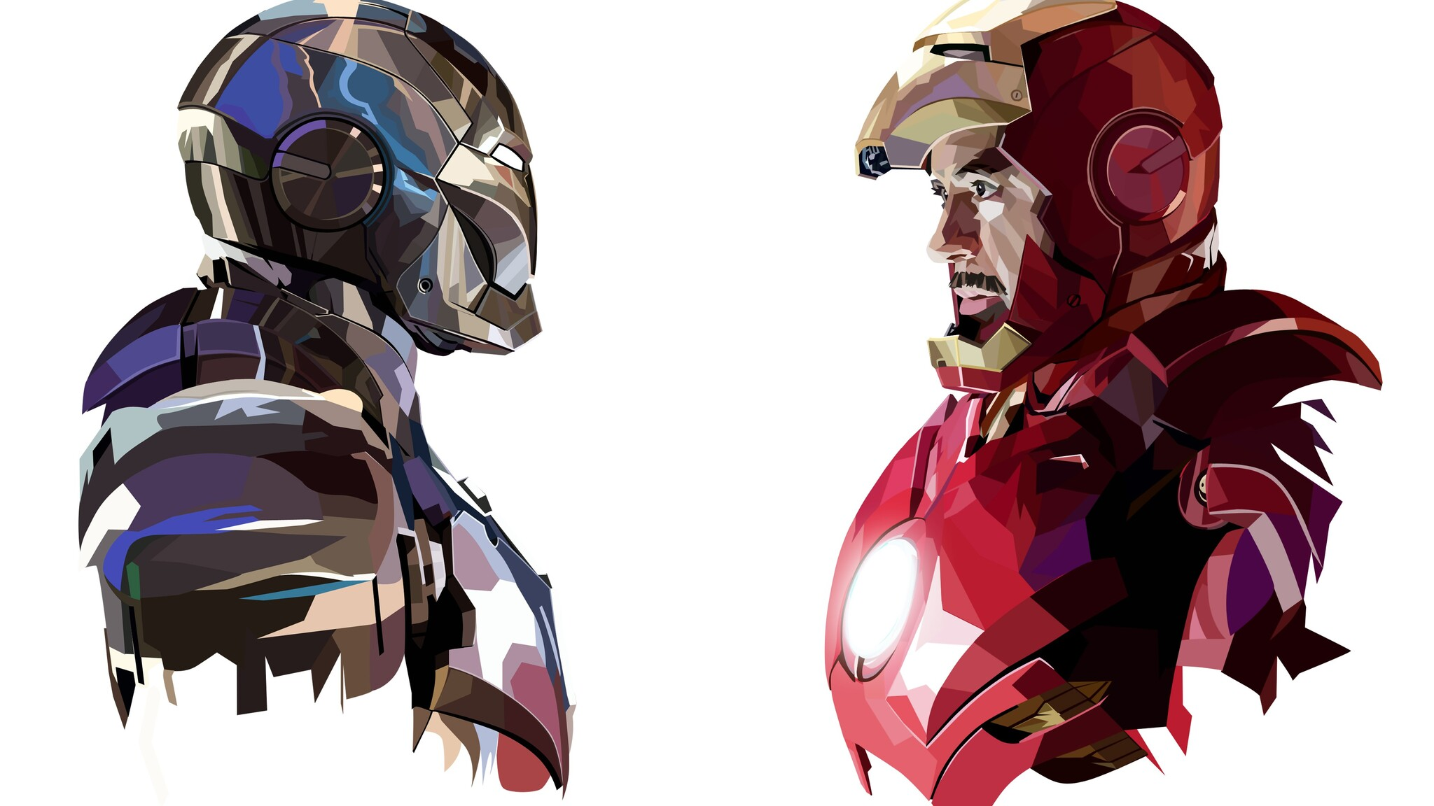 2048x1152 Tony Stark Iron Man Art 2048x1152 Resolution HD