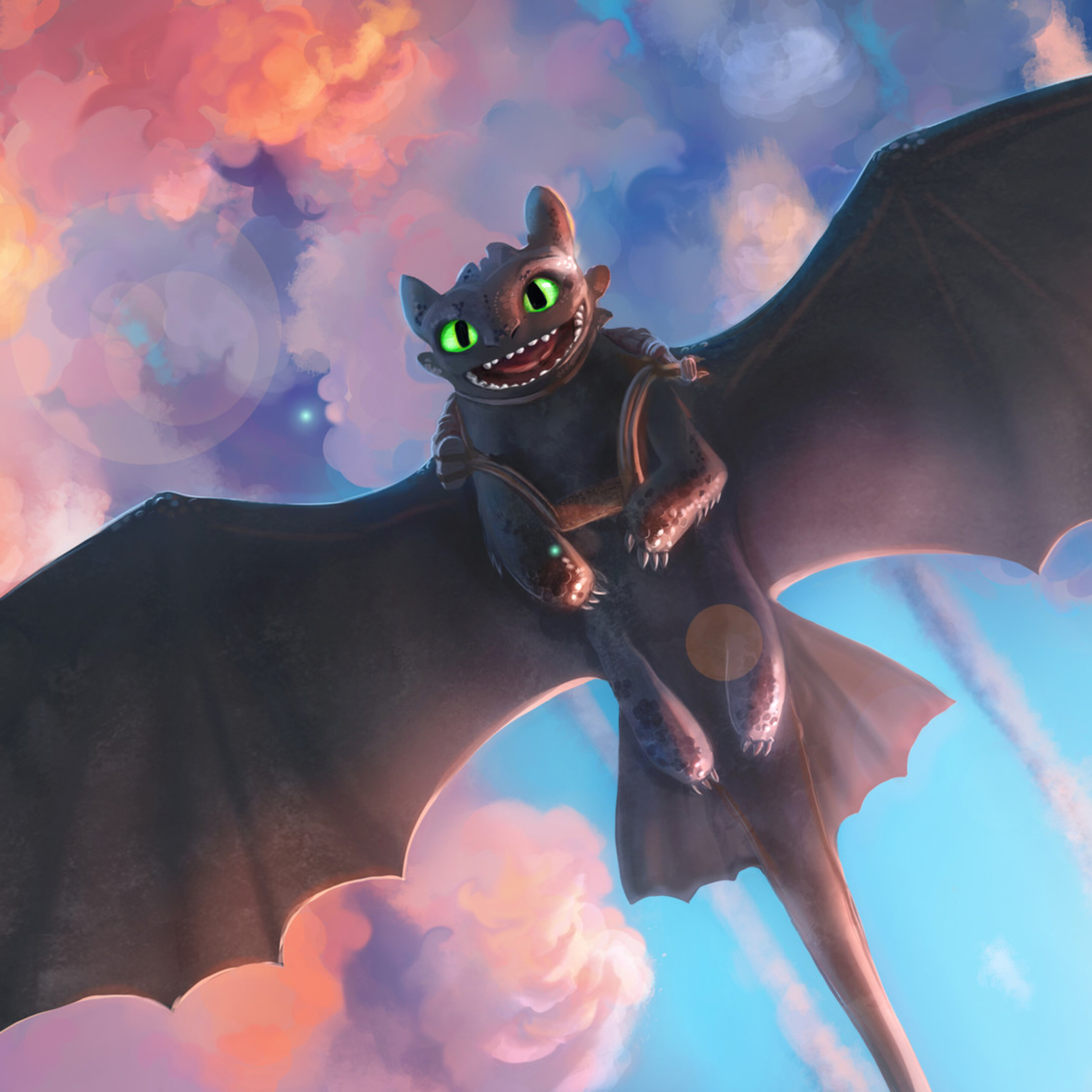 Toothless Wallpaper: 2932x2932 Toothless Artwork Ipad Pro Retina Display HD 4k