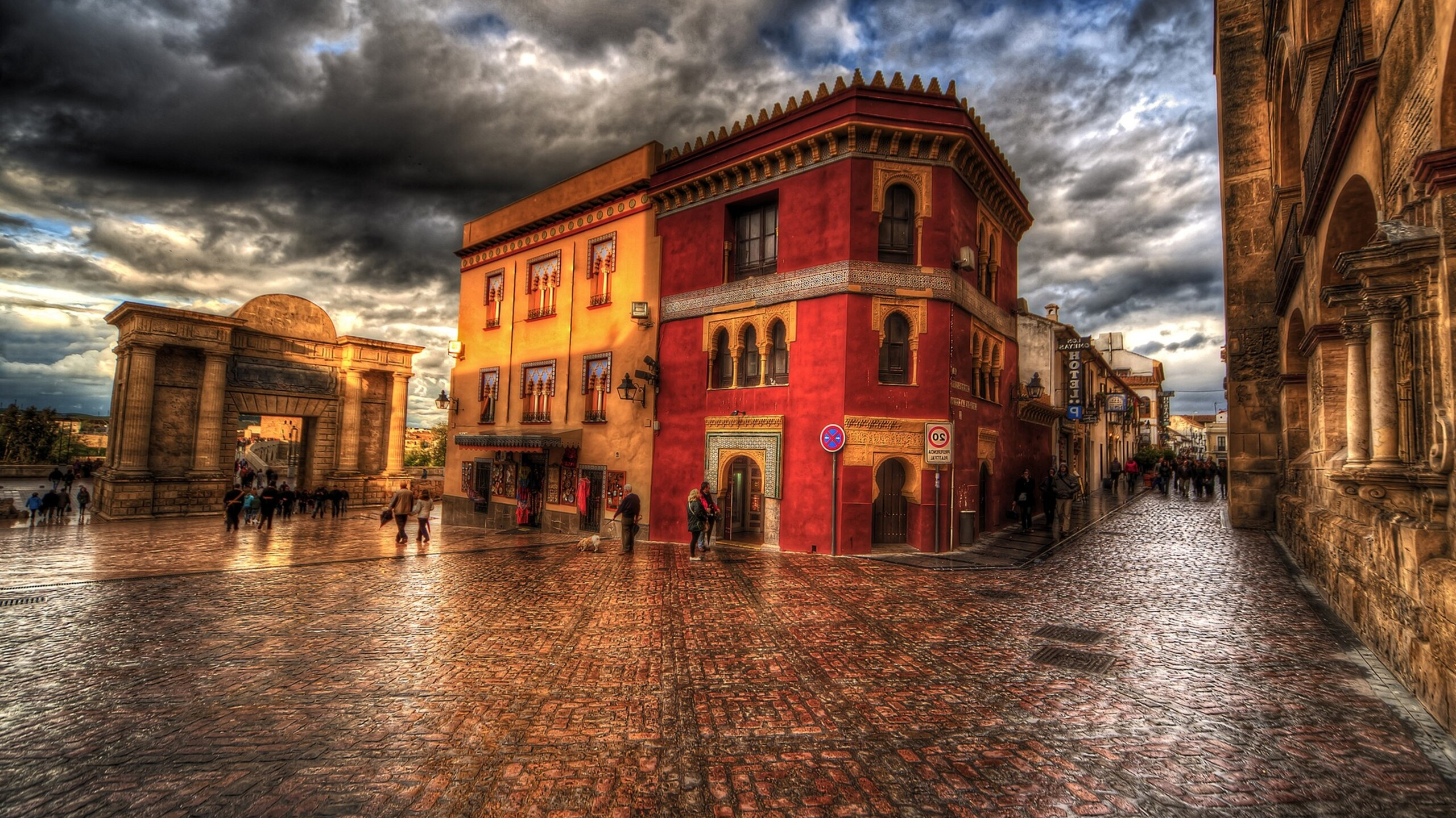 2560x1440 Town HDR 1440P Resolution HD 4k Wallpapers ...
