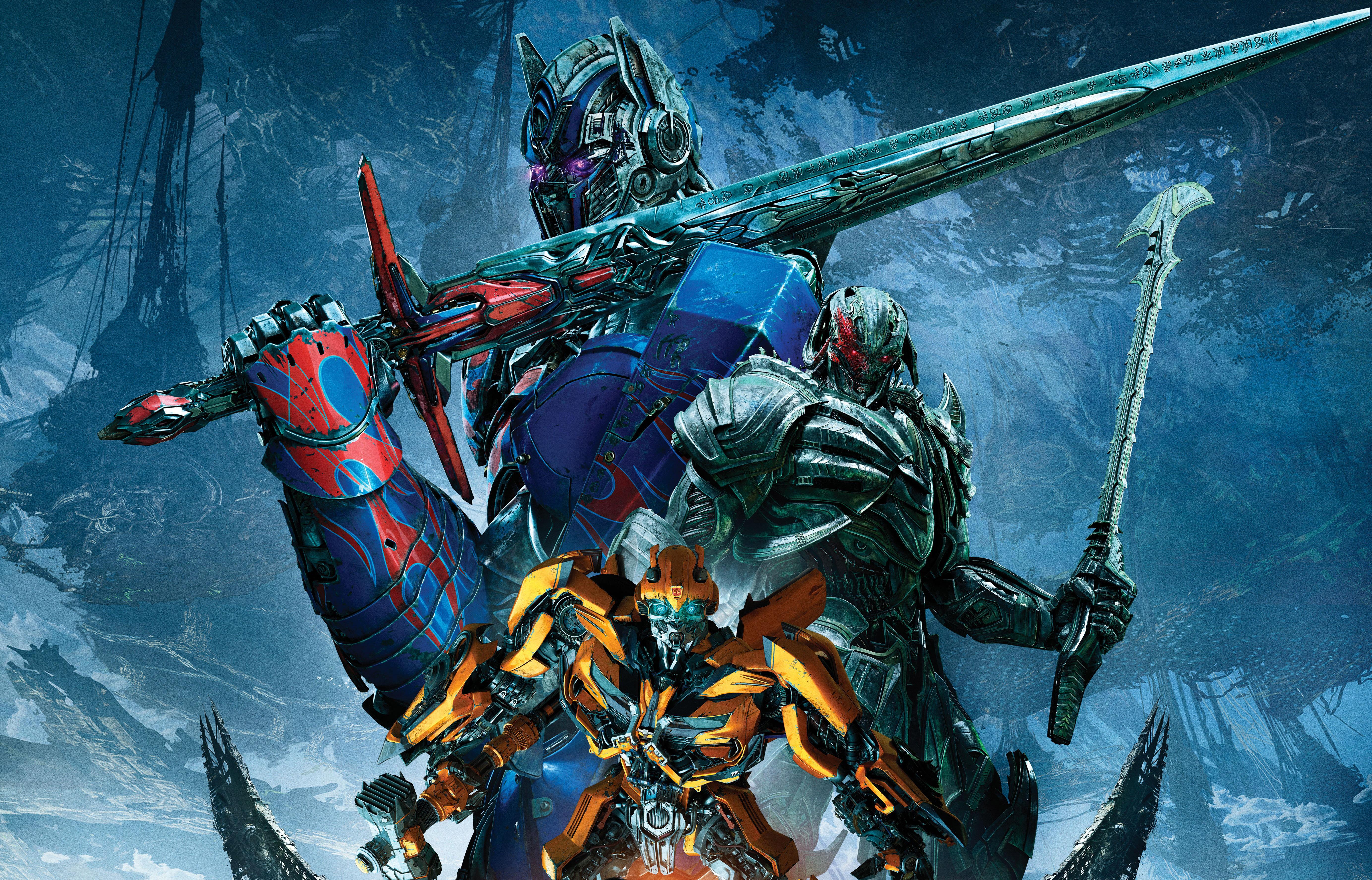 4096x3072 Transformers The Last Knight Bumblebee Megatron Optimus
