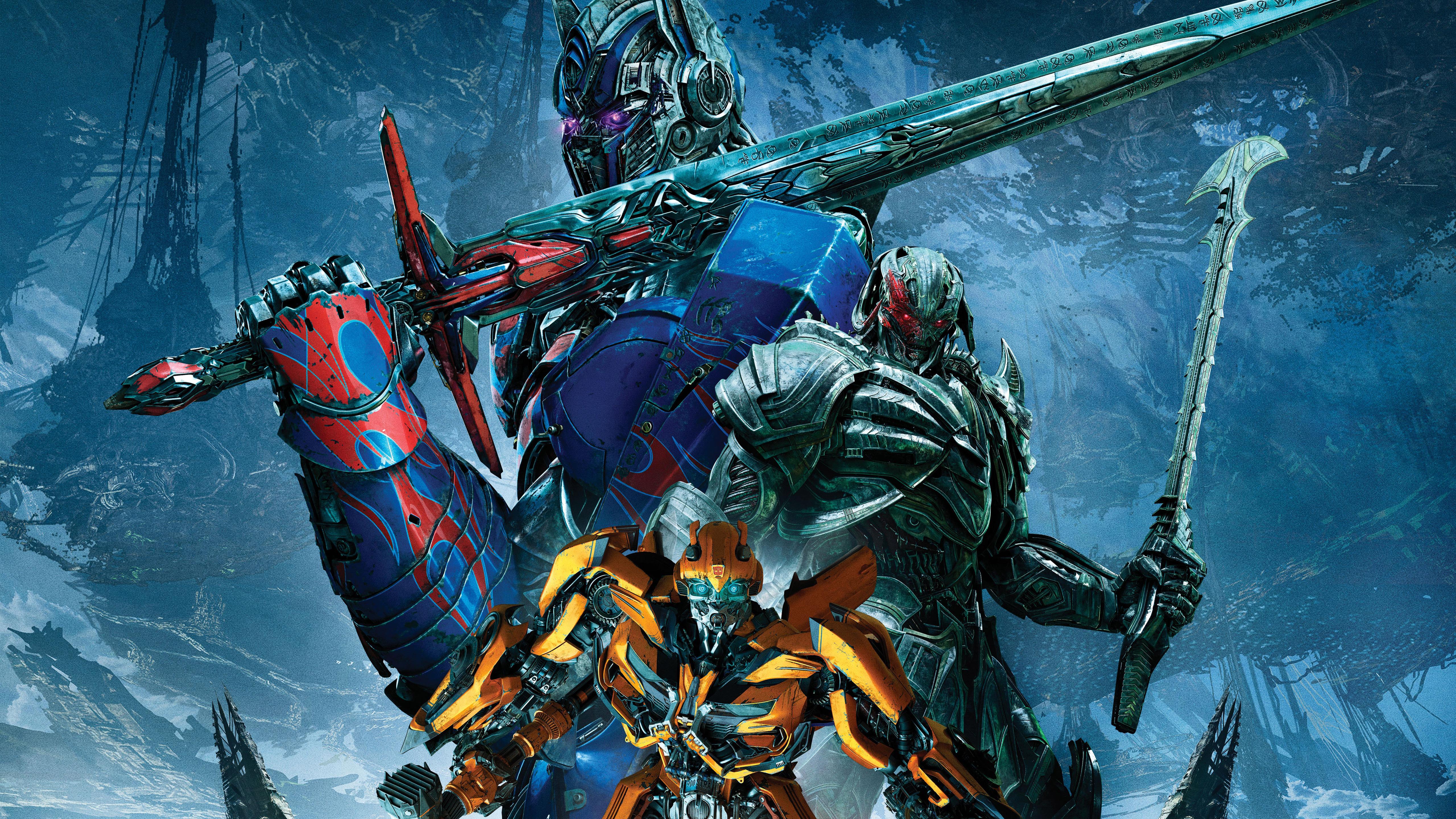 5120x2880 Transformers The Last Knight Bumblebee Megatron ...