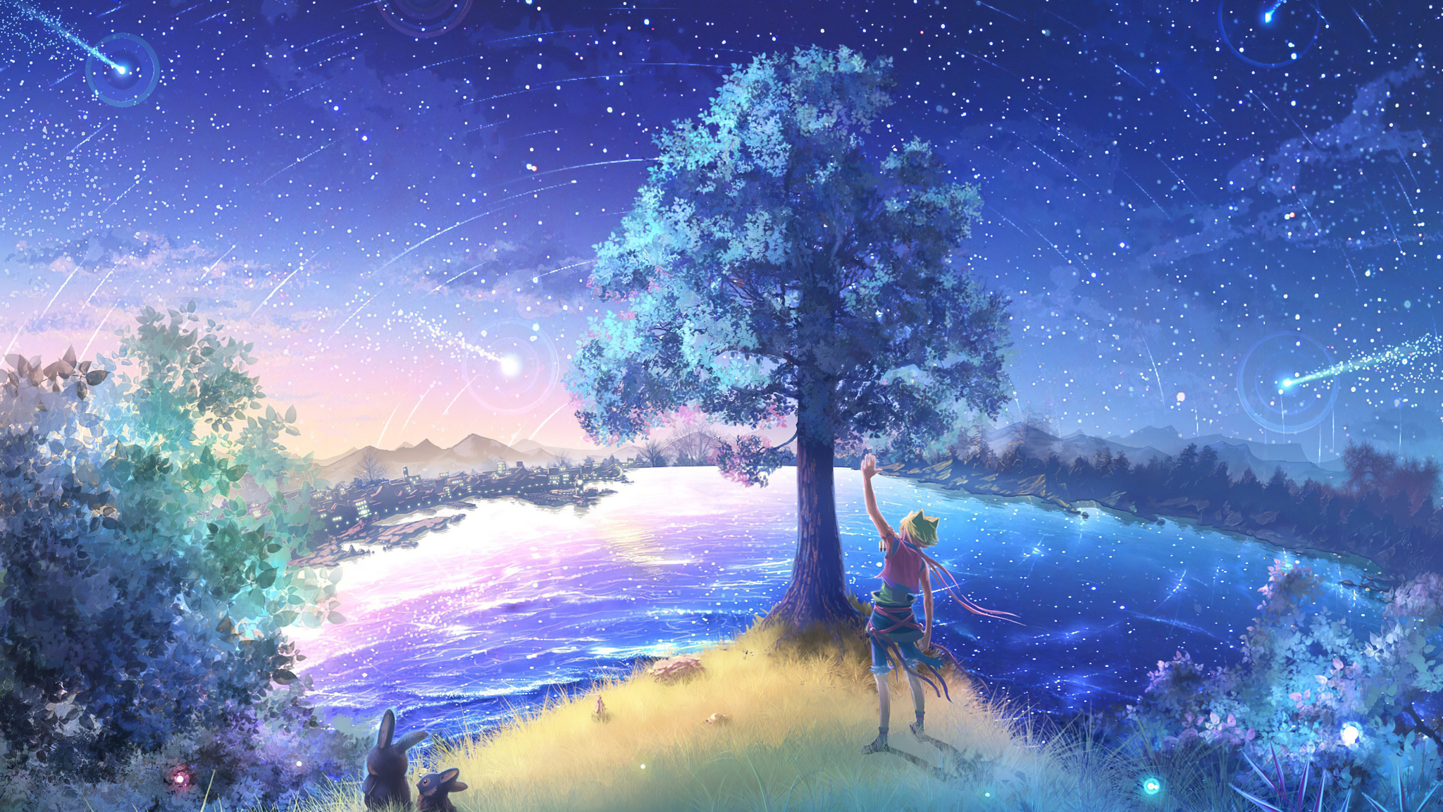 2048x1152 Tree Where Wishes Come True 4k 2048x1152 Resolution Hd 4k Wallpapers Images Backgrounds Photos And Pictures