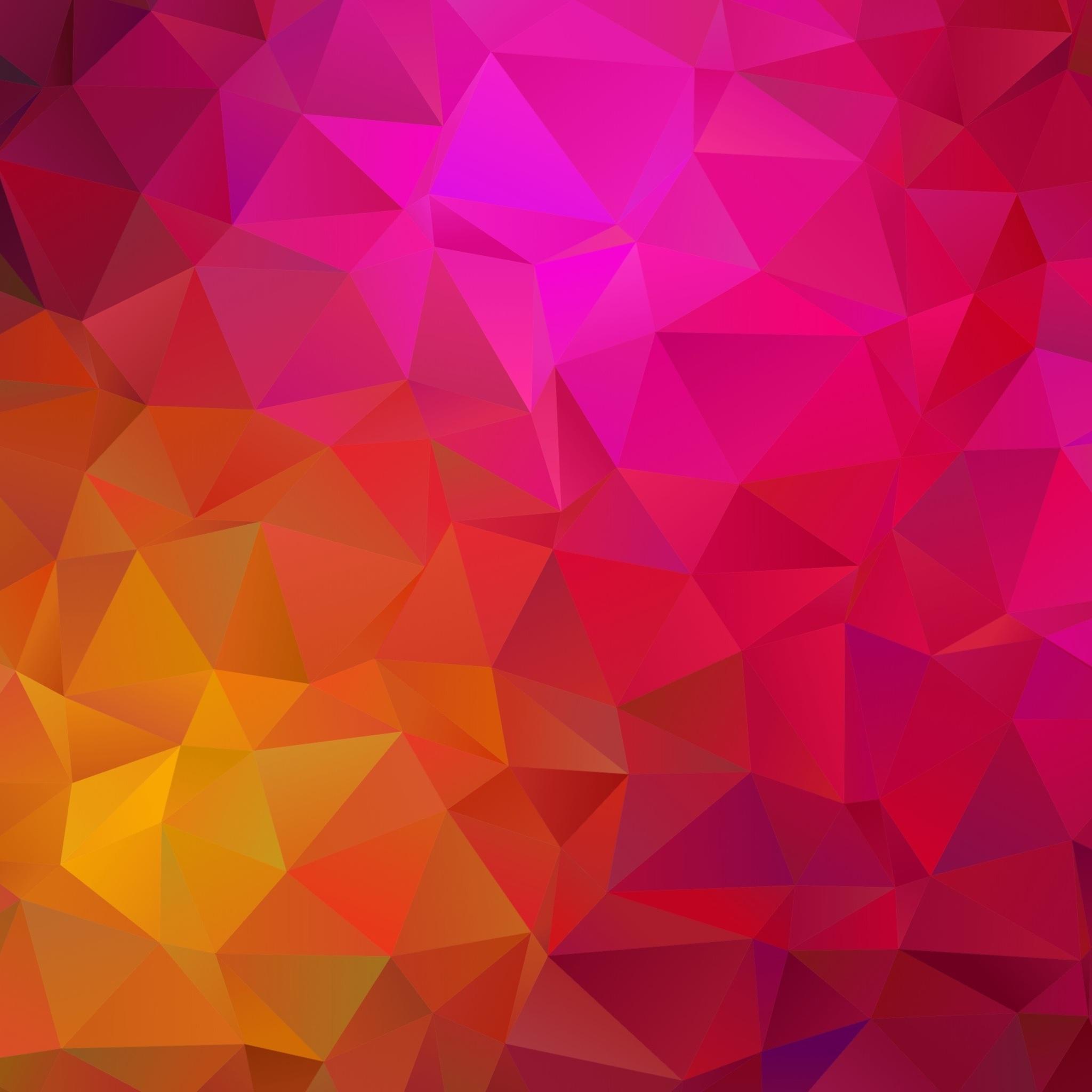 2048x2048 Triangle Geometric Abstract Ipad Air HD 4k