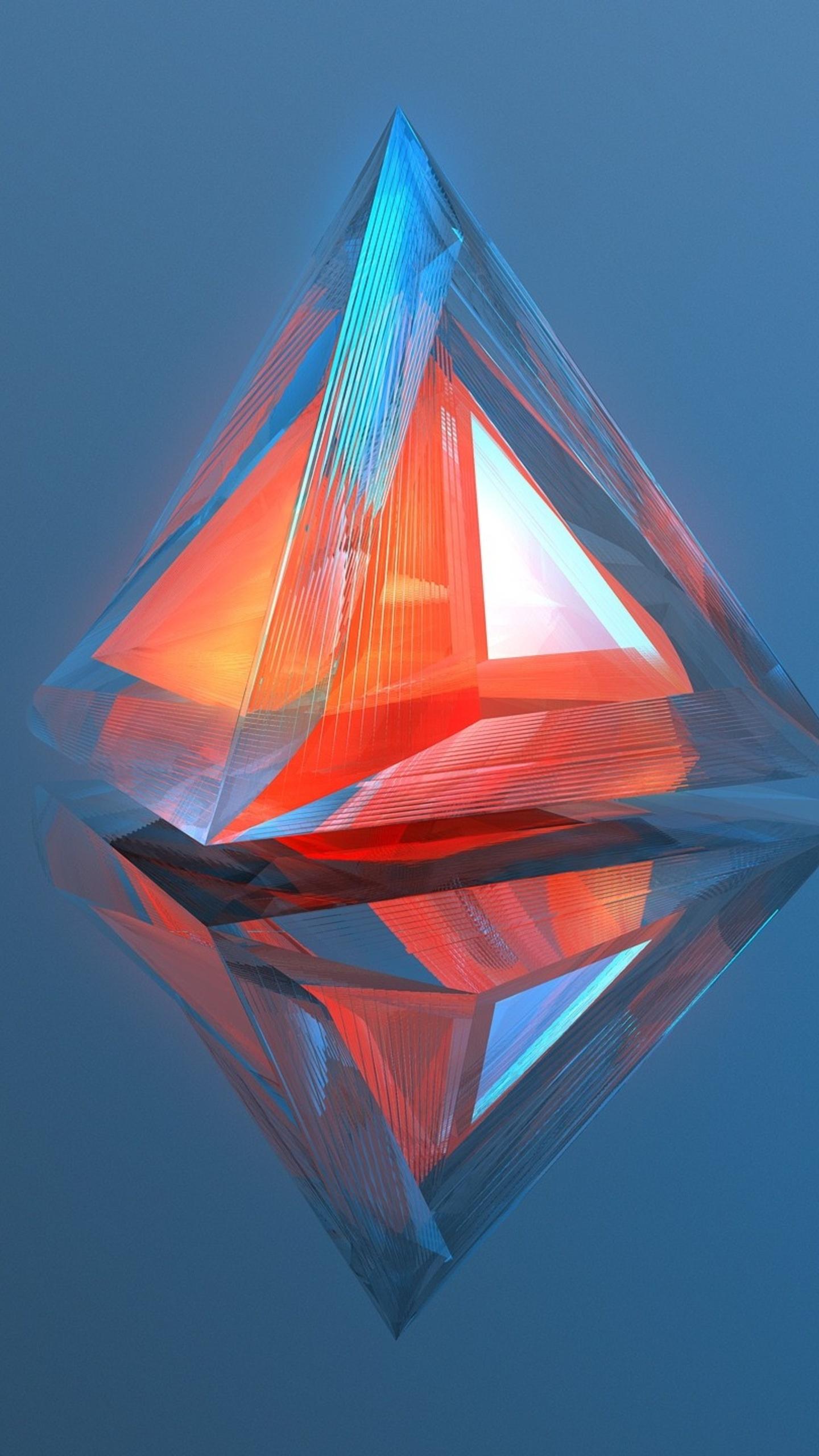 1440x2560 Triangle Geometry 3d Digital Art Samsung Galaxy S6