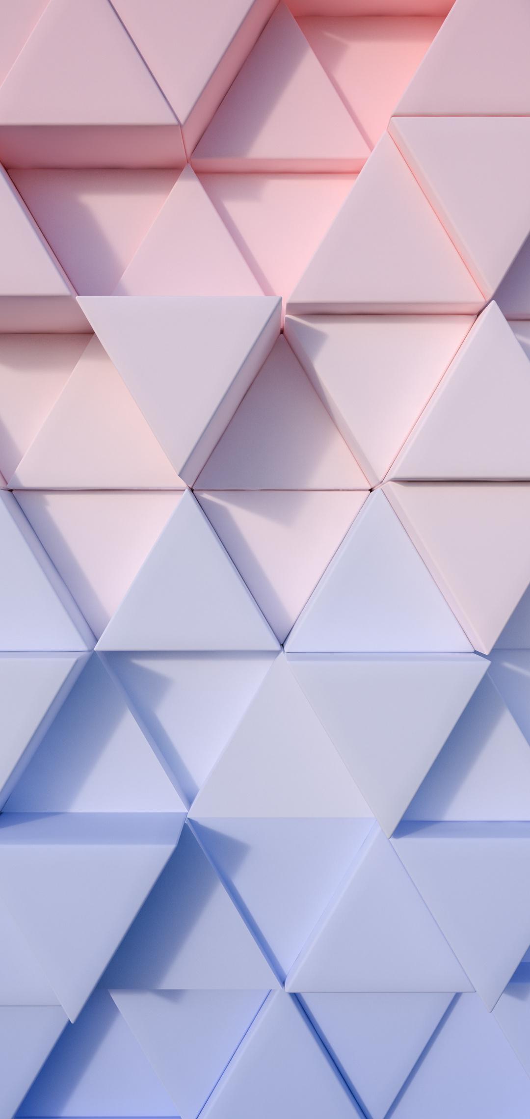 triangle pastel 3d 4k 0d