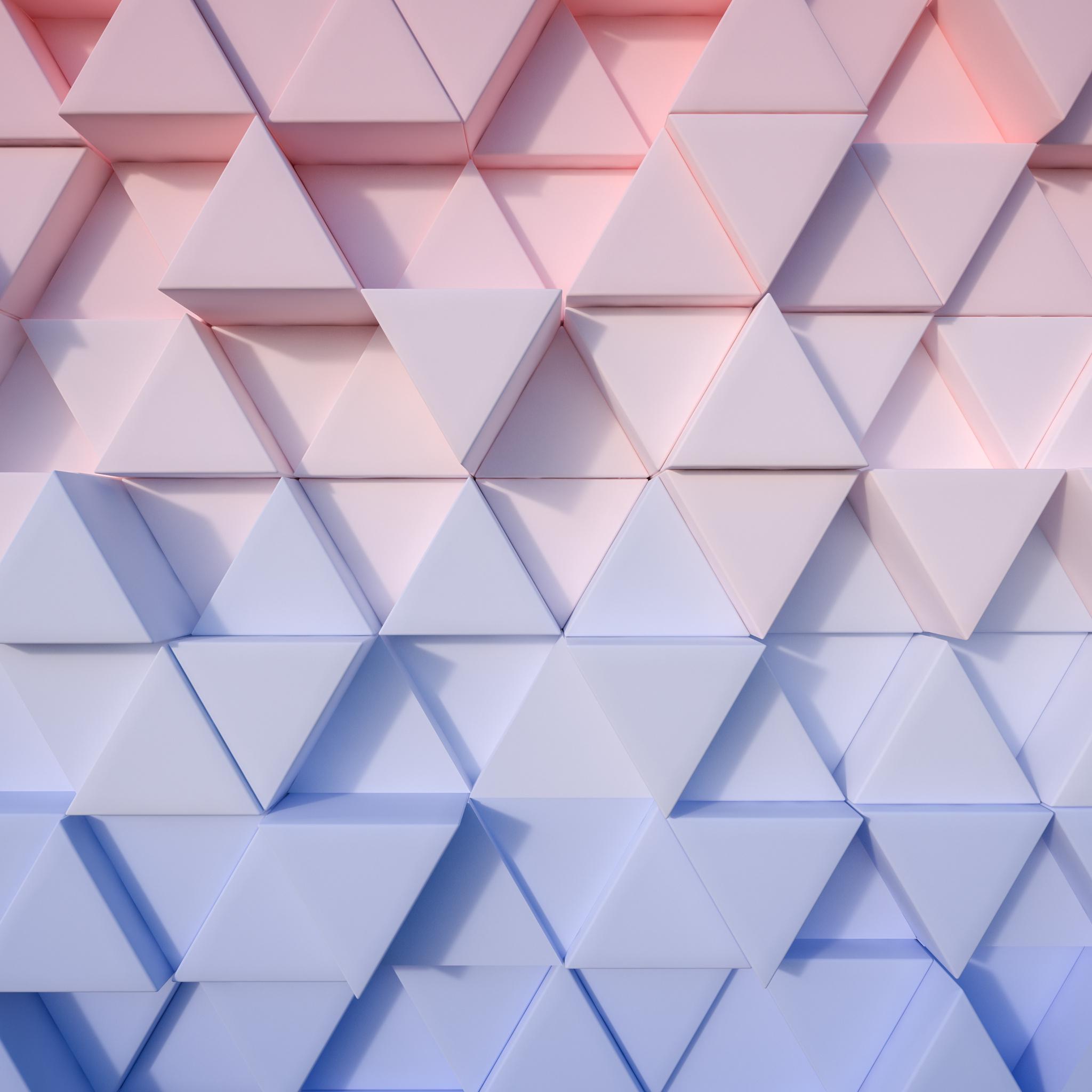 2048x2048 Triangle Pastel 3d 4k Ipad Air HD 4k Wallpapers