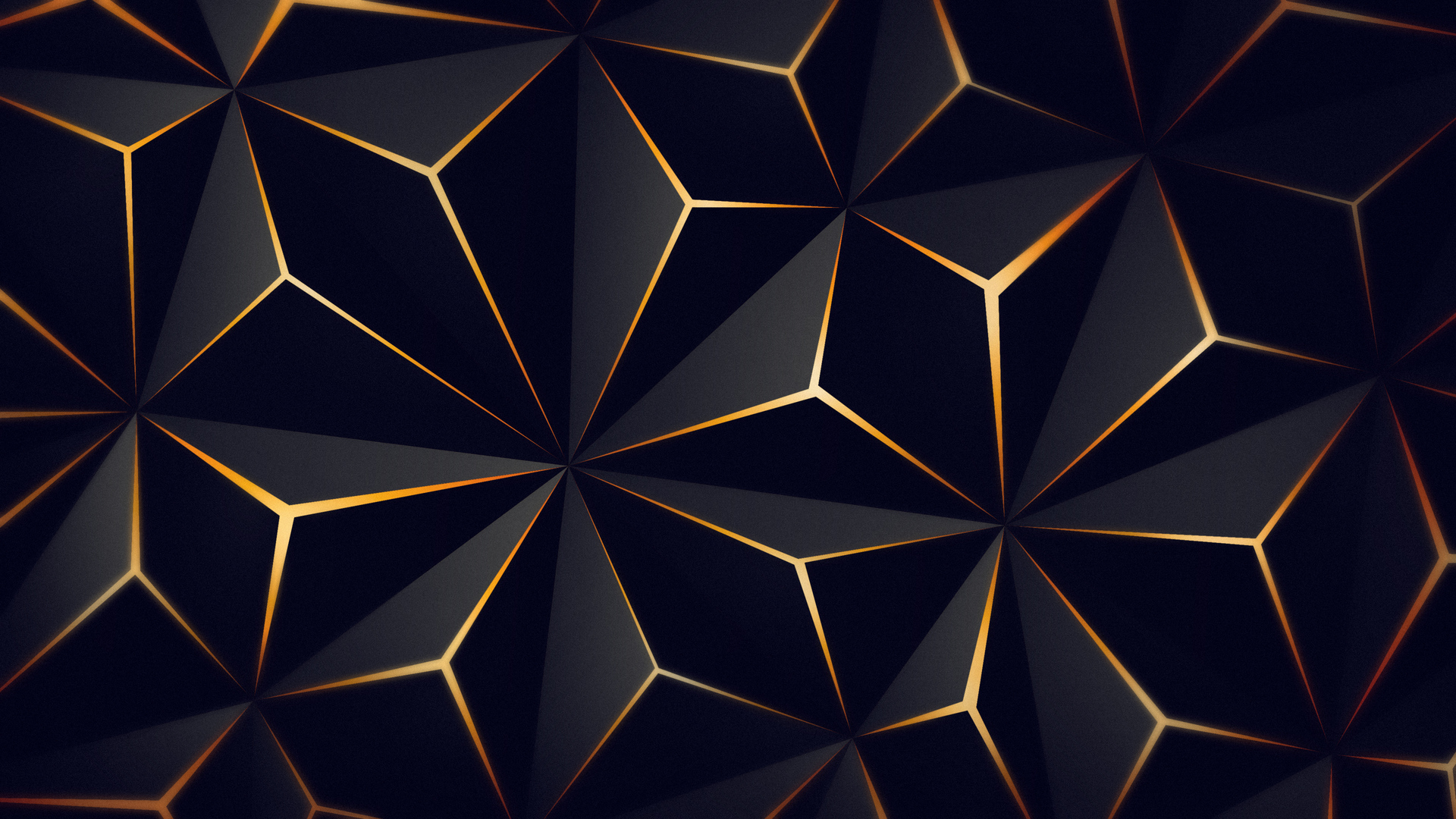 1920x1080 Triangle Solid Black Gold 4k Laptop Full HD ...