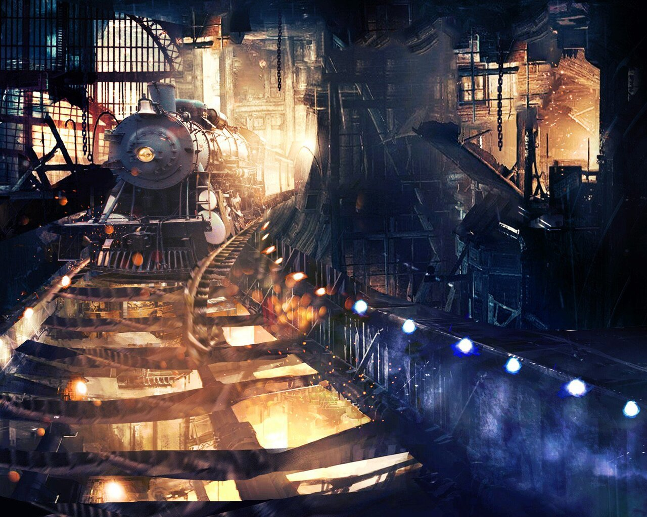 Tunnel train Other Technology Background Wallpapers on Desktop