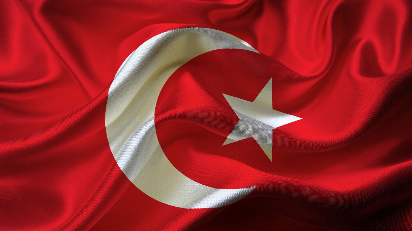 1366x768 Turkey Flag Resolution HD 4k Wallpapers Images