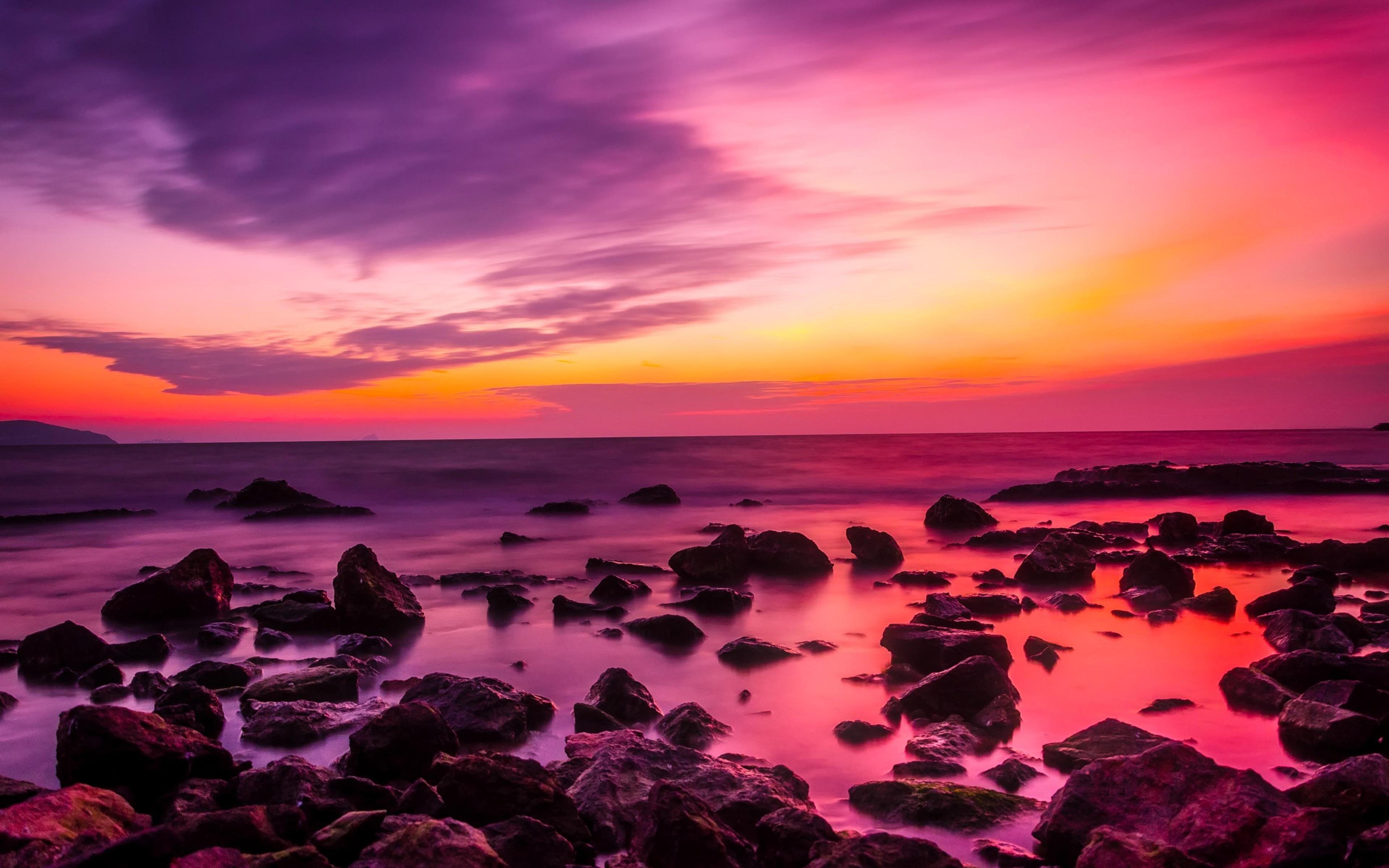 3840x2400 Turkey Sunset Dusk Sky Clouds Rocks 4k Hd 4k