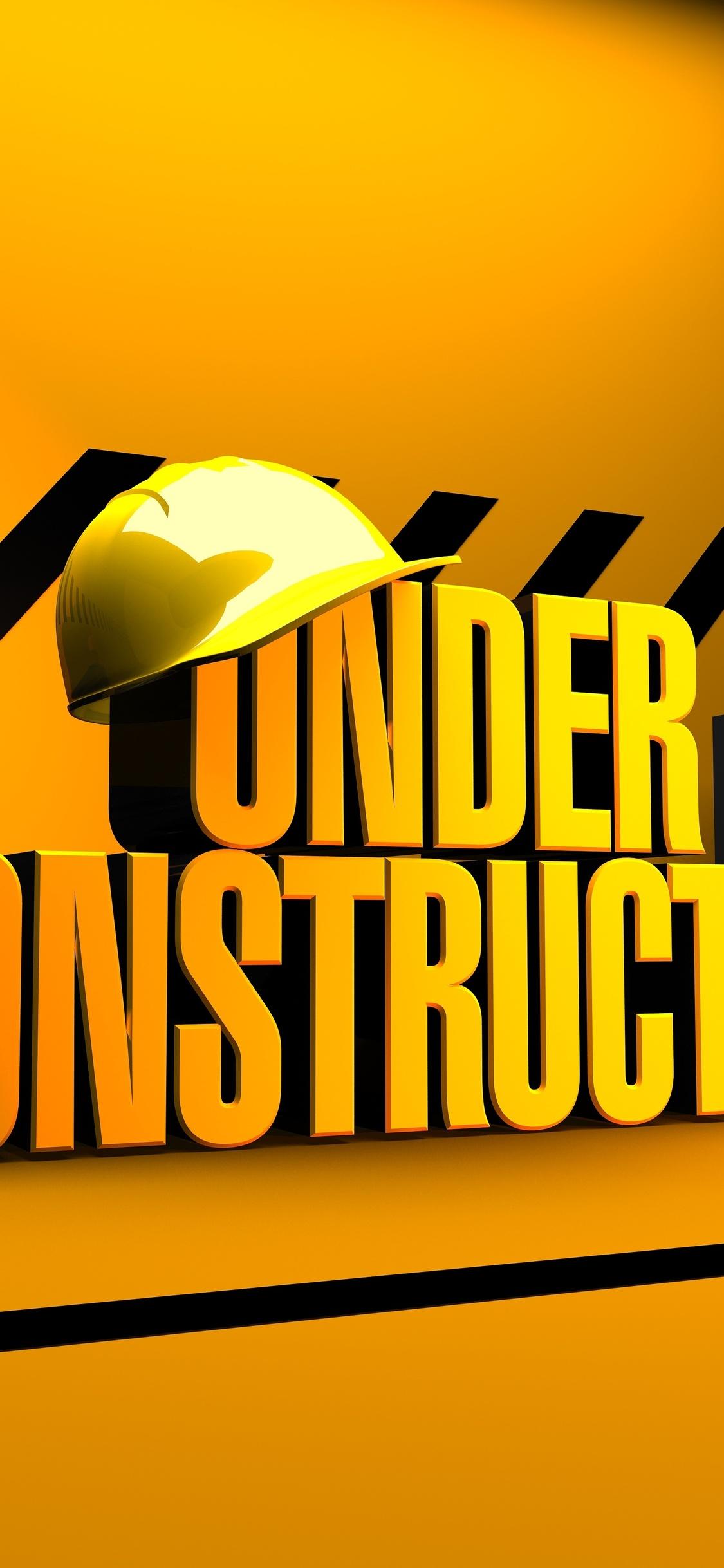 1125x2436 Under Construction Build Work Architecture Iphone