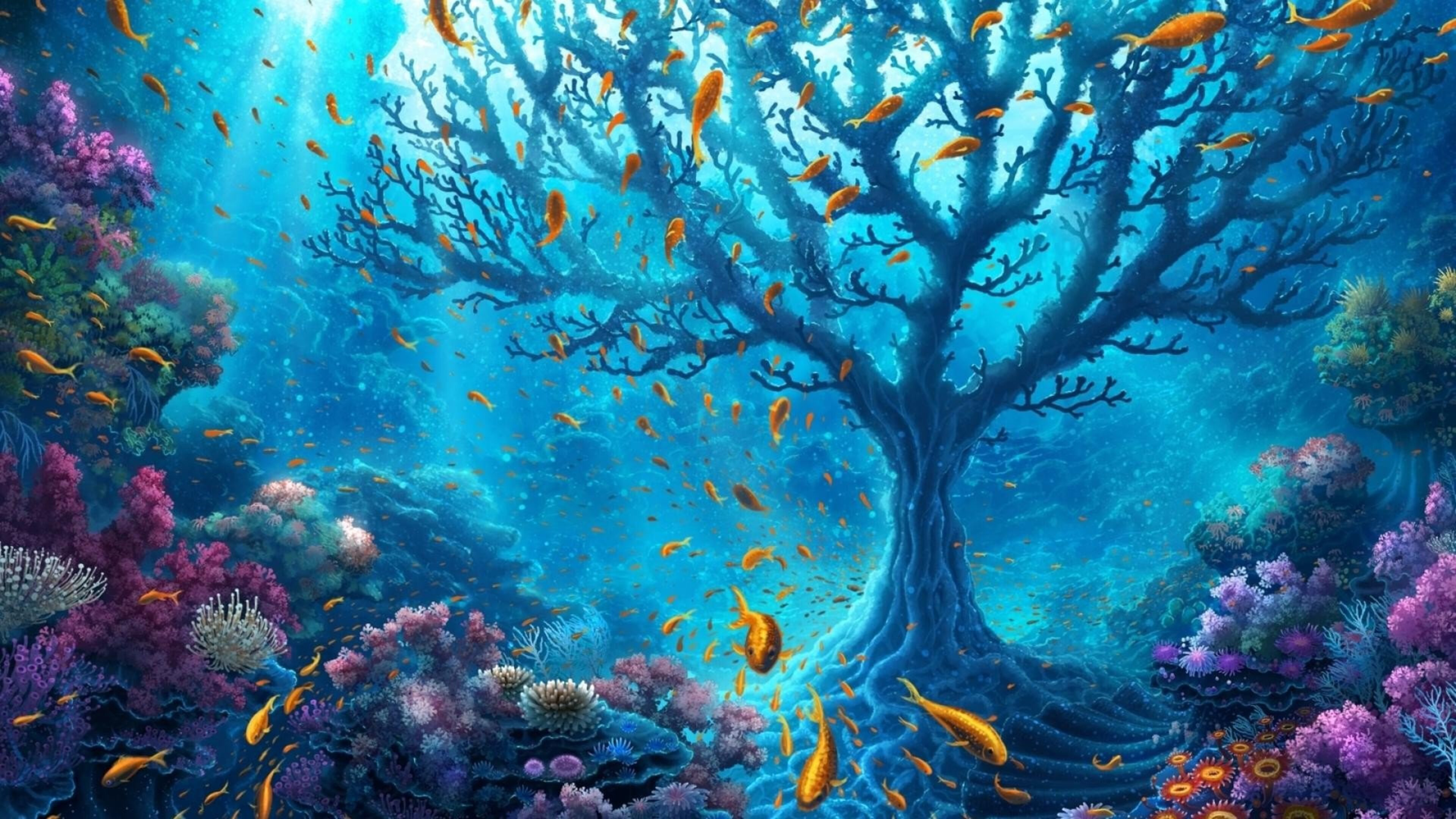 3840x2160 underwater world 4k hd 4k wallpapers images - Underwater desktop background ...