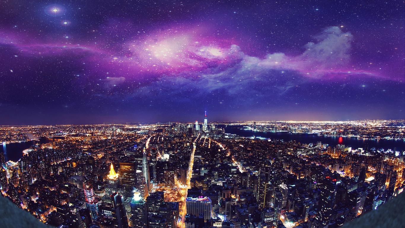 1366x768 Usa New York City Night 4k 1366x768 Resolution Hd