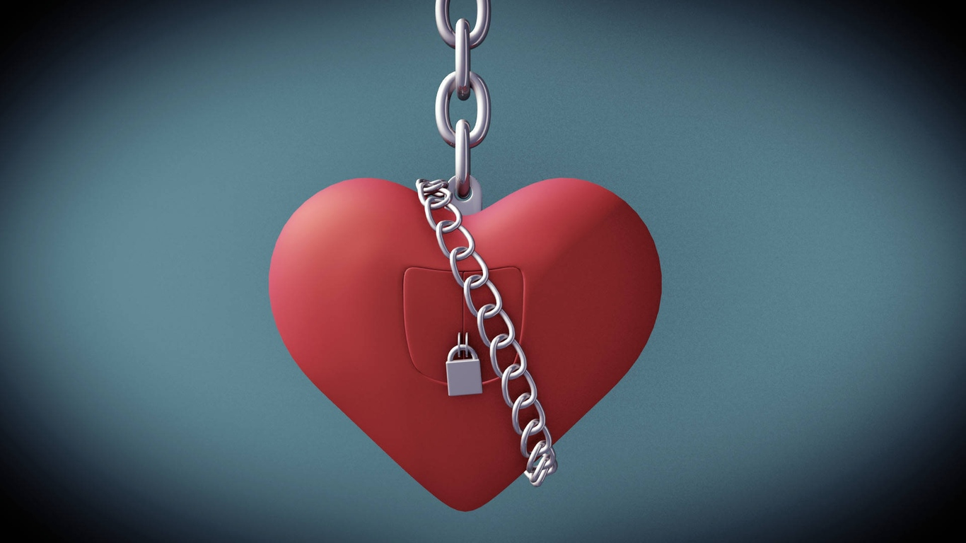 1366x768 Valentine Day Heart Lock 1366x768 Resolution Hd 4k
