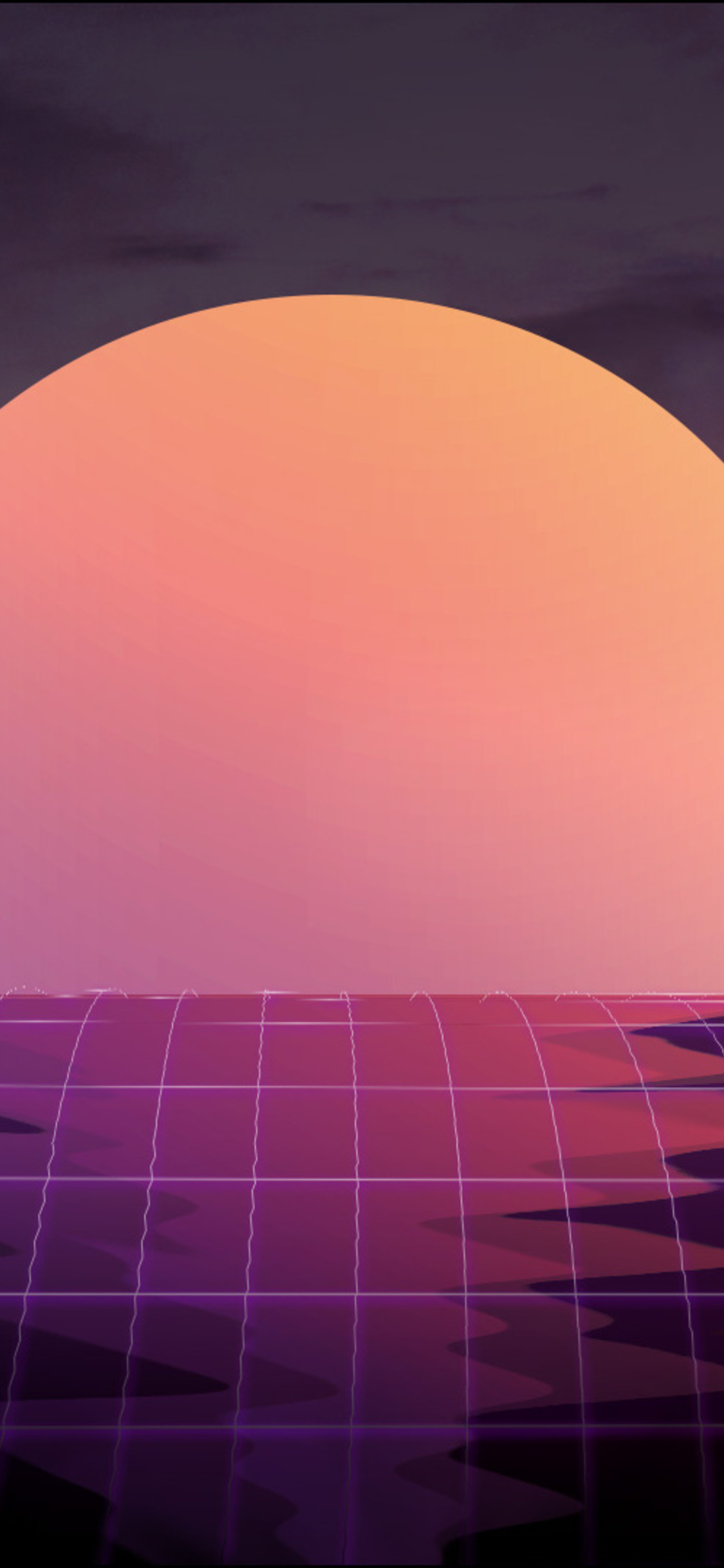 1125x2436 Vapor Wave Sunset 4k Iphone Xs Iphone 10 Iphone X Hd 4k