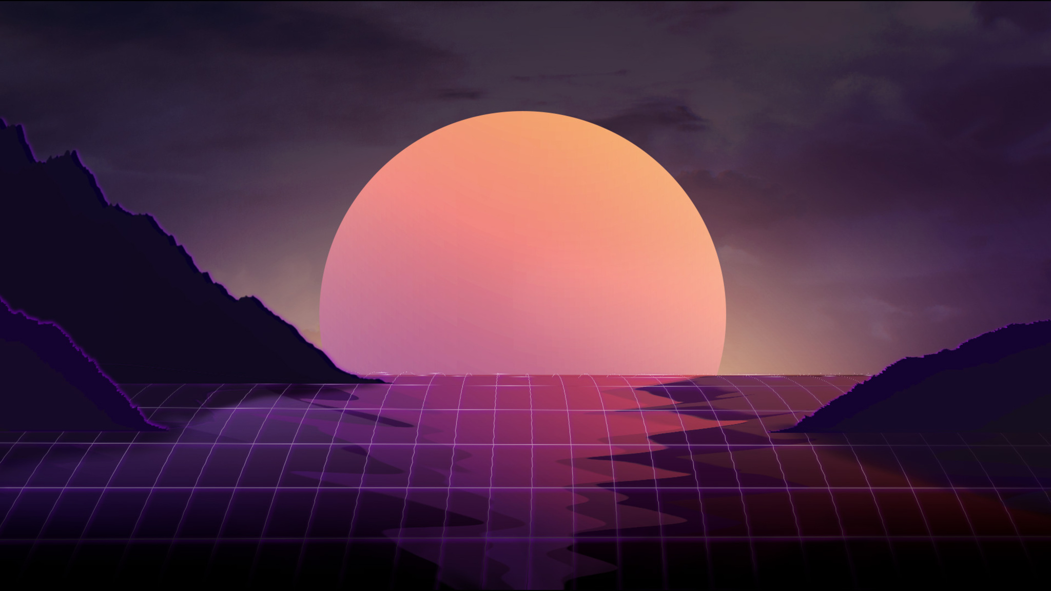 Vapor Wave Sunset 4k Nz