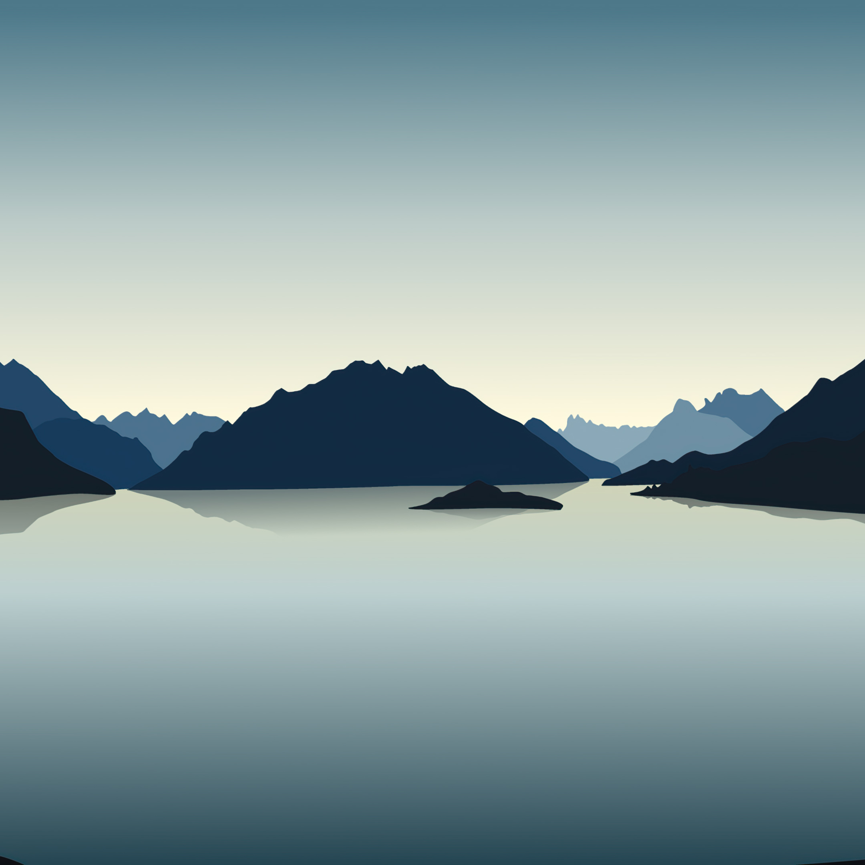 2932x2932 Vector Landscape Reflection Mountains 4k Ipad Pro Retina Display Hd 4k Wallpapers Images Backgrounds Photos And Pictures