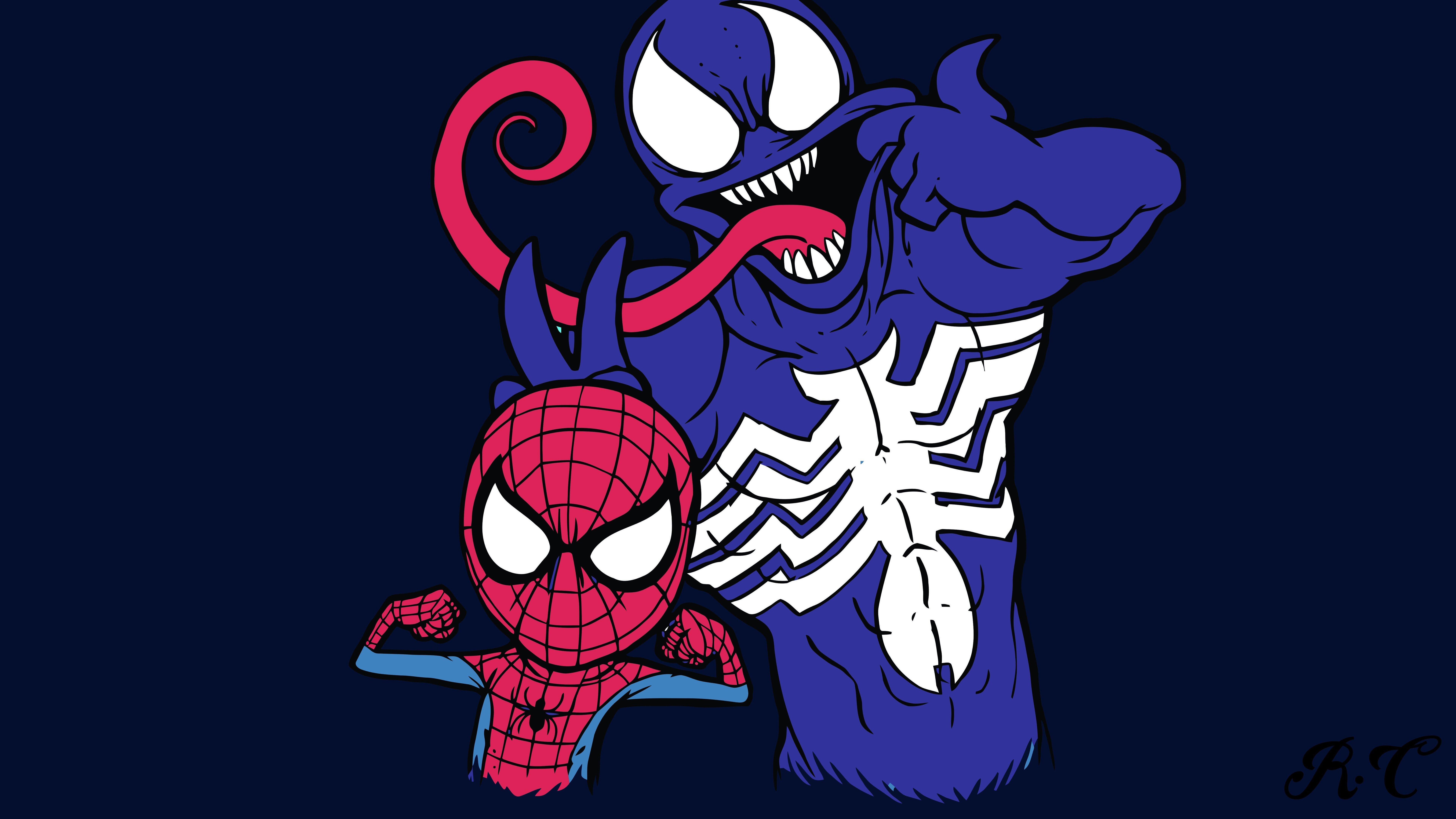 7680x4320 Venom And Spiderman 8k 8k HD 4k Wallpapers ...