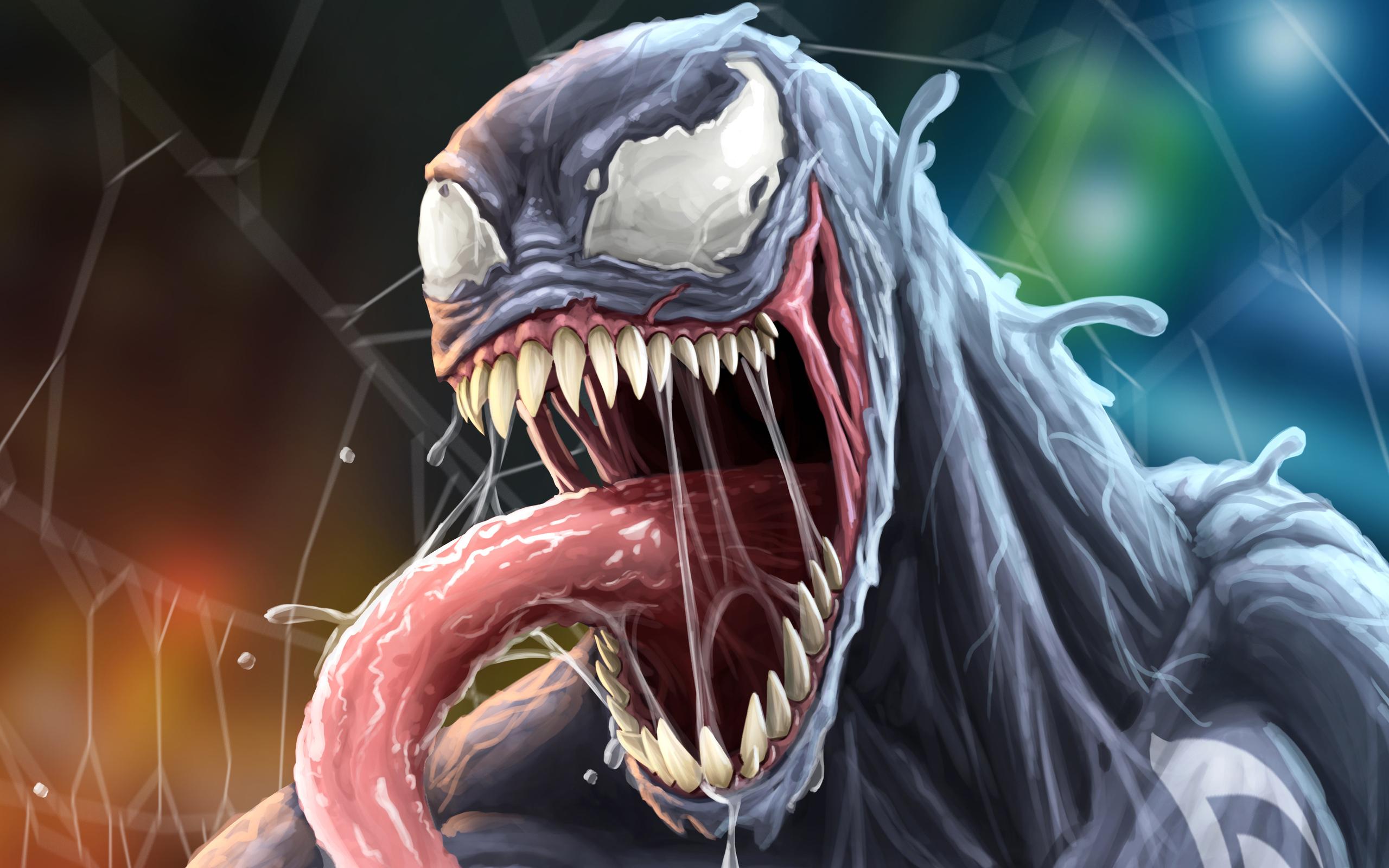 2560x1600 Venom Closeup Face Artwork 4k 2560x1600 ...