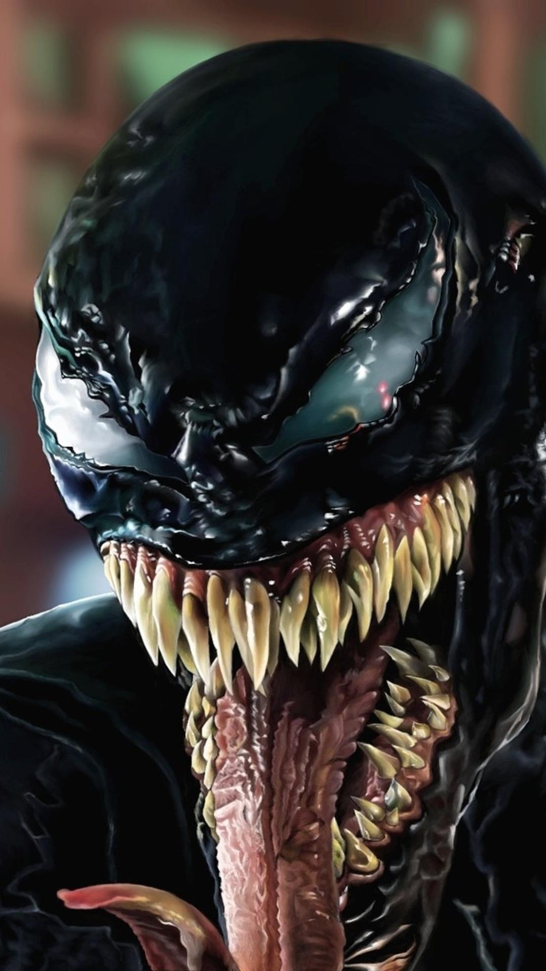 1080x1920 Venom Face Closeup Artwork Iphone 7,6s,6 Plus ...