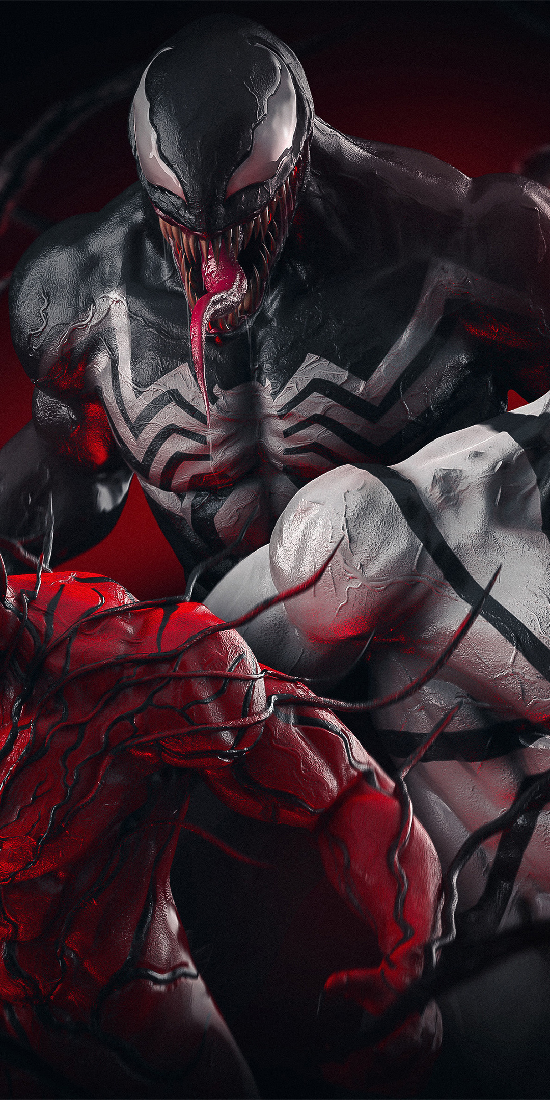 1080x2160 Venom X Carnage X AntiVenom One Plus 5T,Honor 7x ...