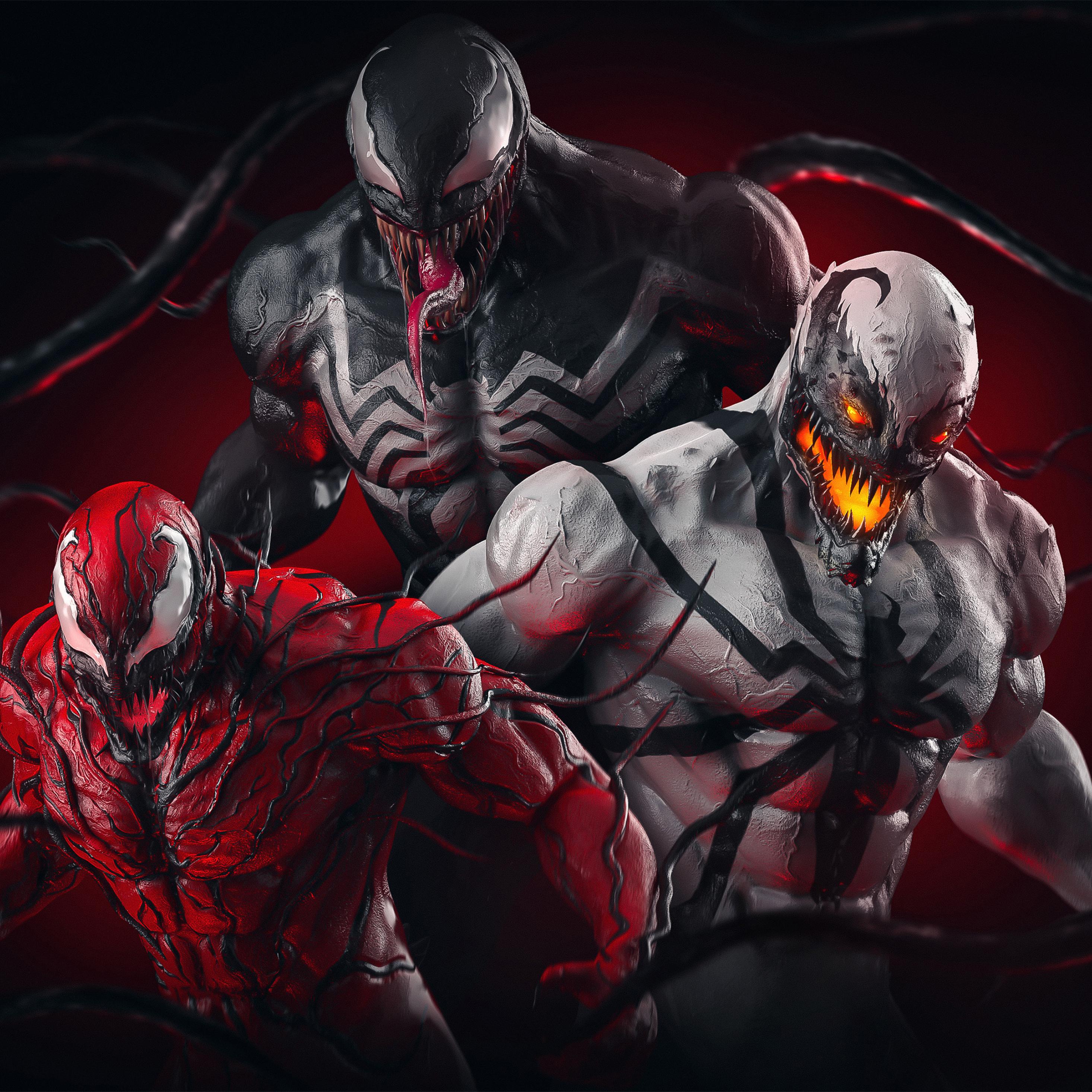 2932x2932 Venom X Carnage X AntiVenom Ipad Pro Retina ...