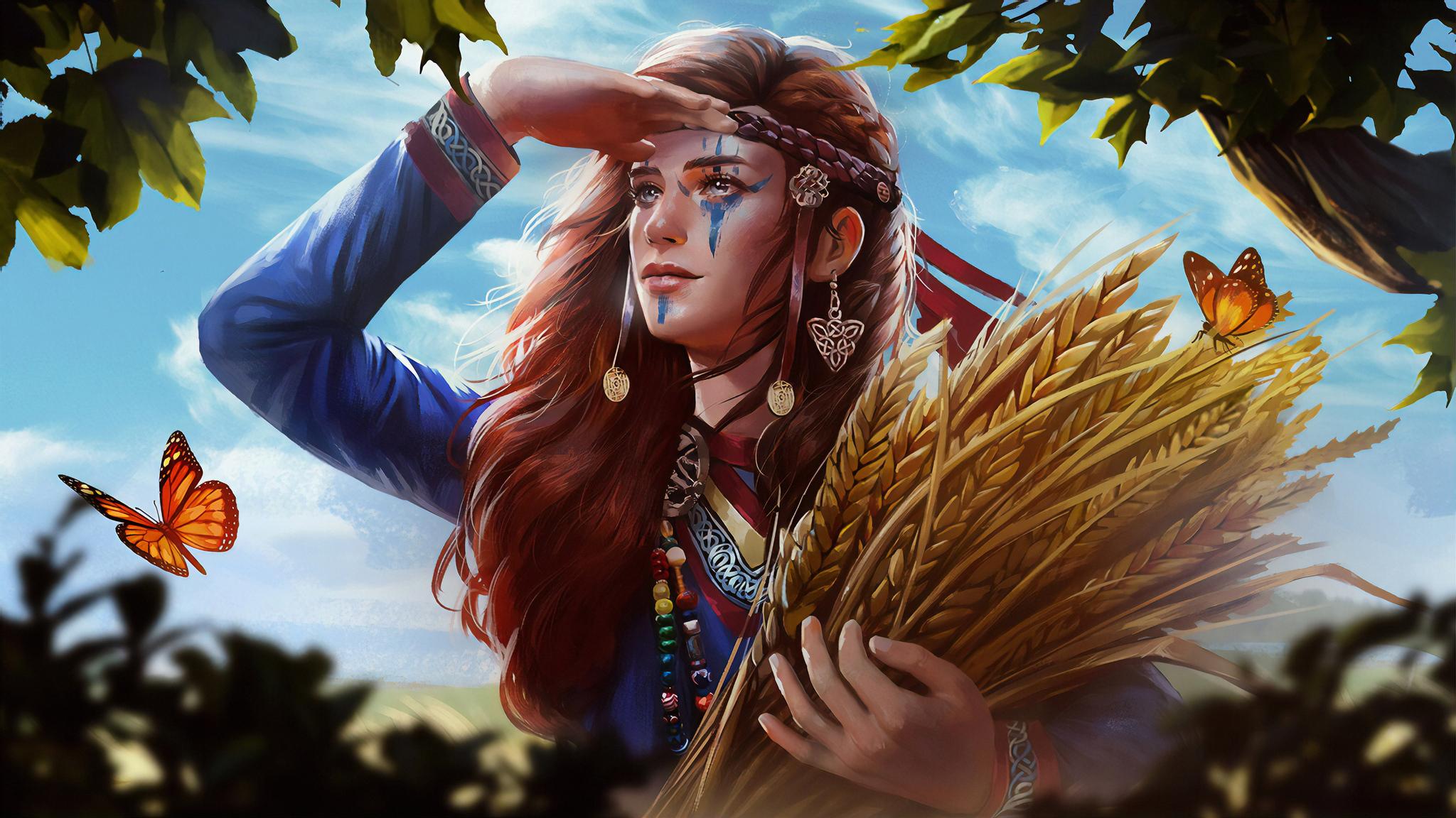 2048x1152 Viking Girl 4k Art 2048x1152 Resolution Hd 4k