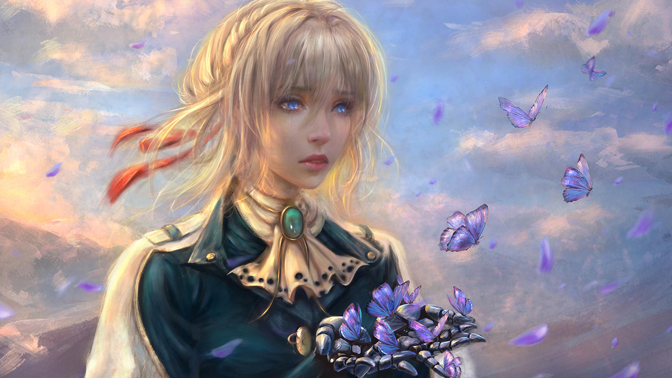 2560x1440 Violet Evergarden Anime Girl 1440P Resolution HD ...