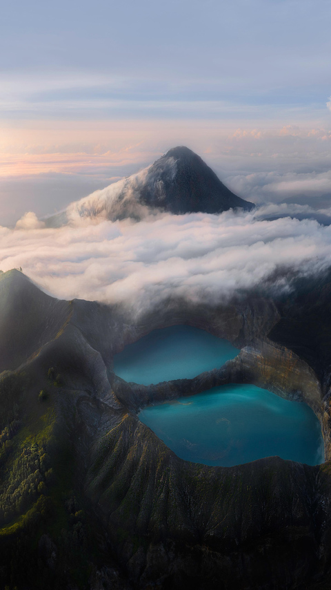 volcanic lakes flores indonesia 4k ax