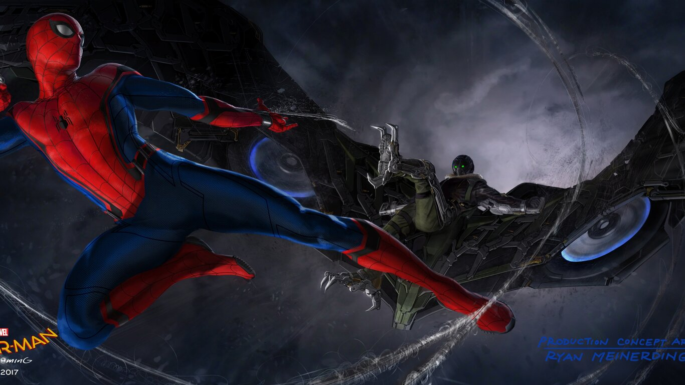 1366x768 Vulture In Spider Man Homecoming Concept Art