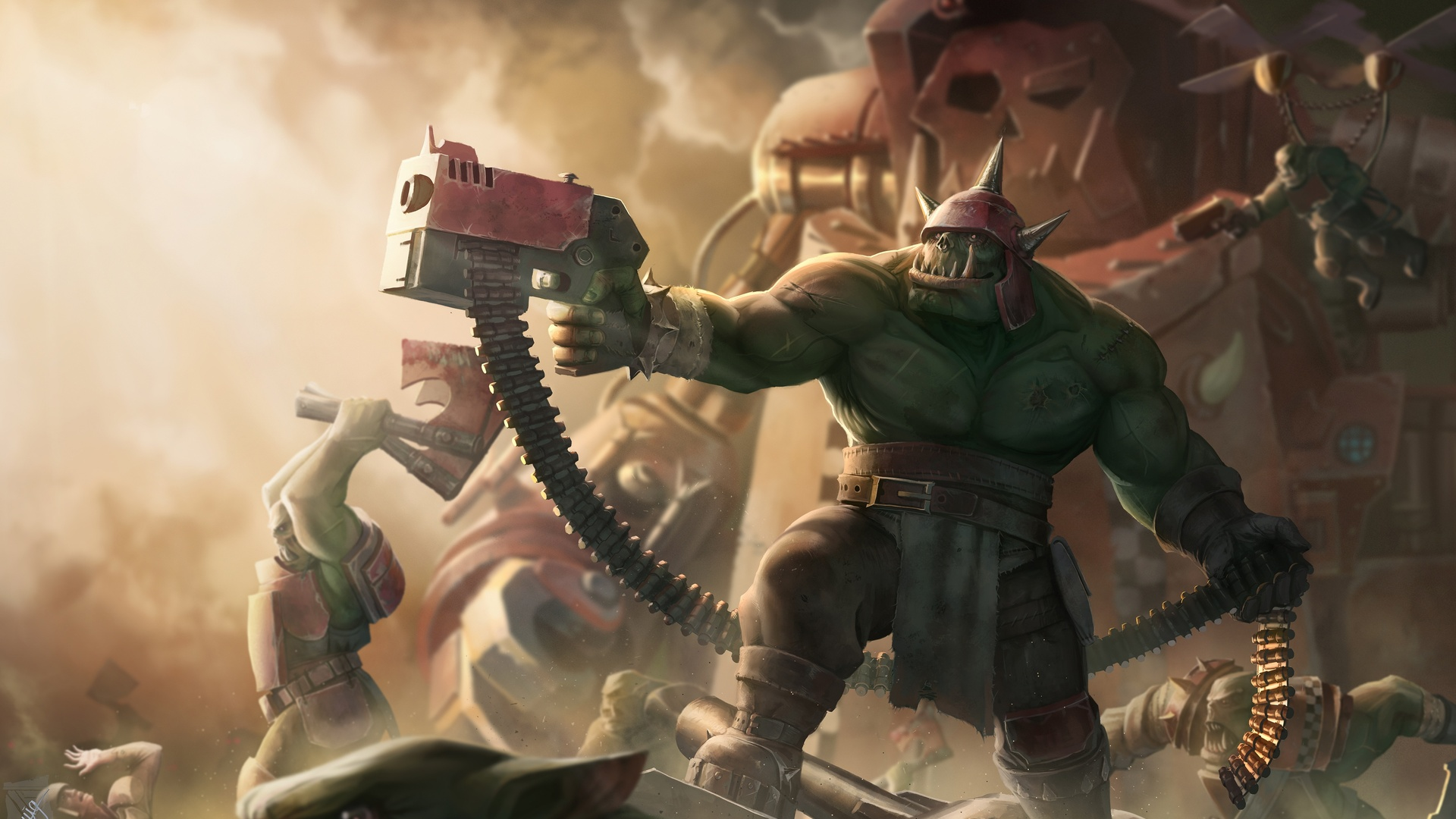 1920x1080 warhammer 40k ork laptop full hd 1080p hd 4k wallpapers