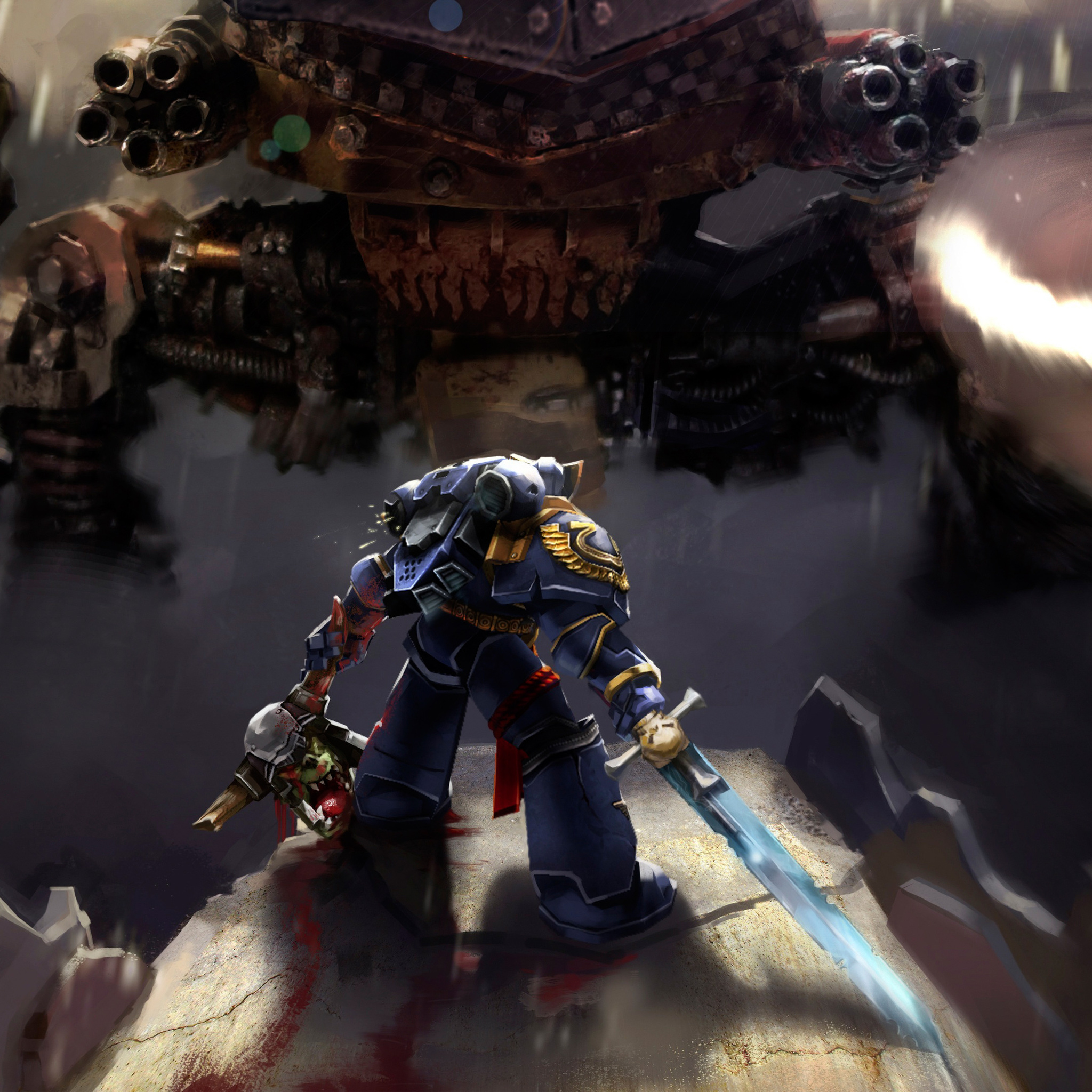 2048x2048 warhammer 40k space marine ultramarines ipad air hd 4k