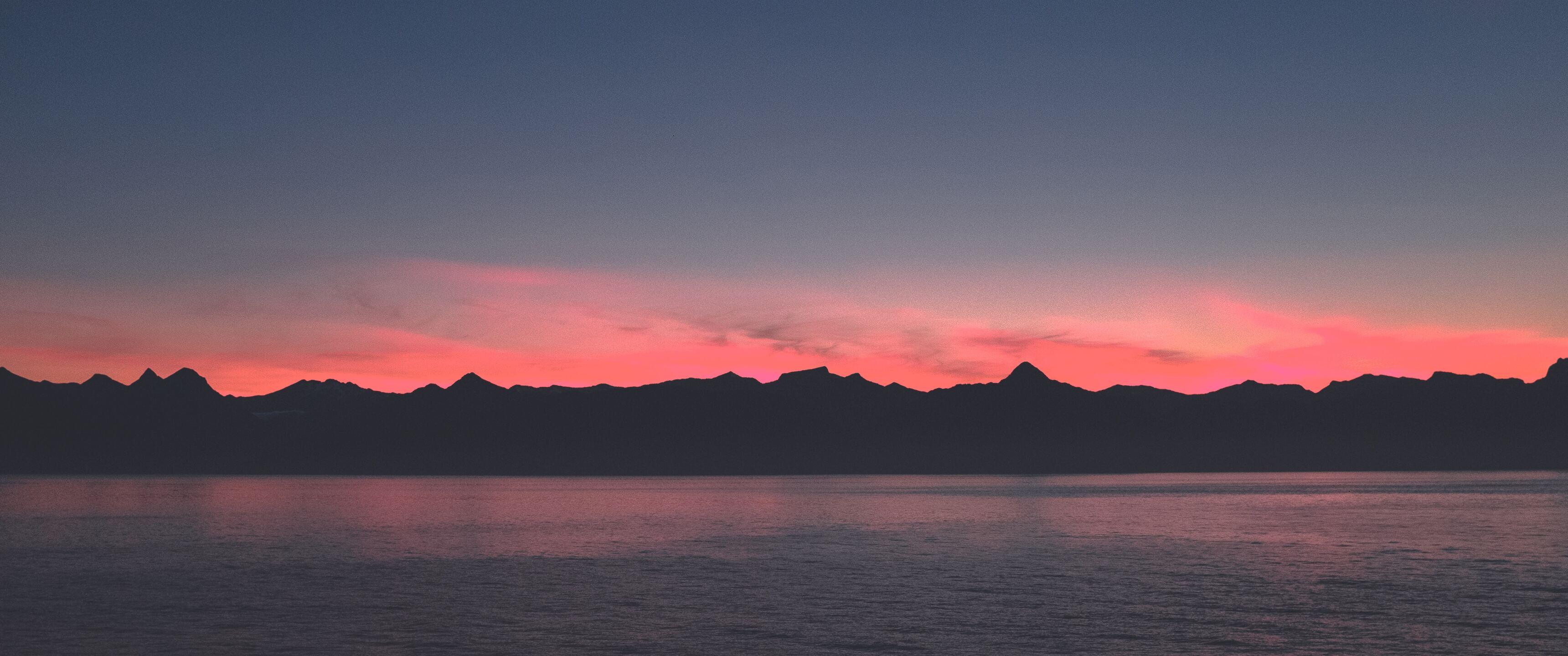 3440x1440 Warm Summer Sunset 5k