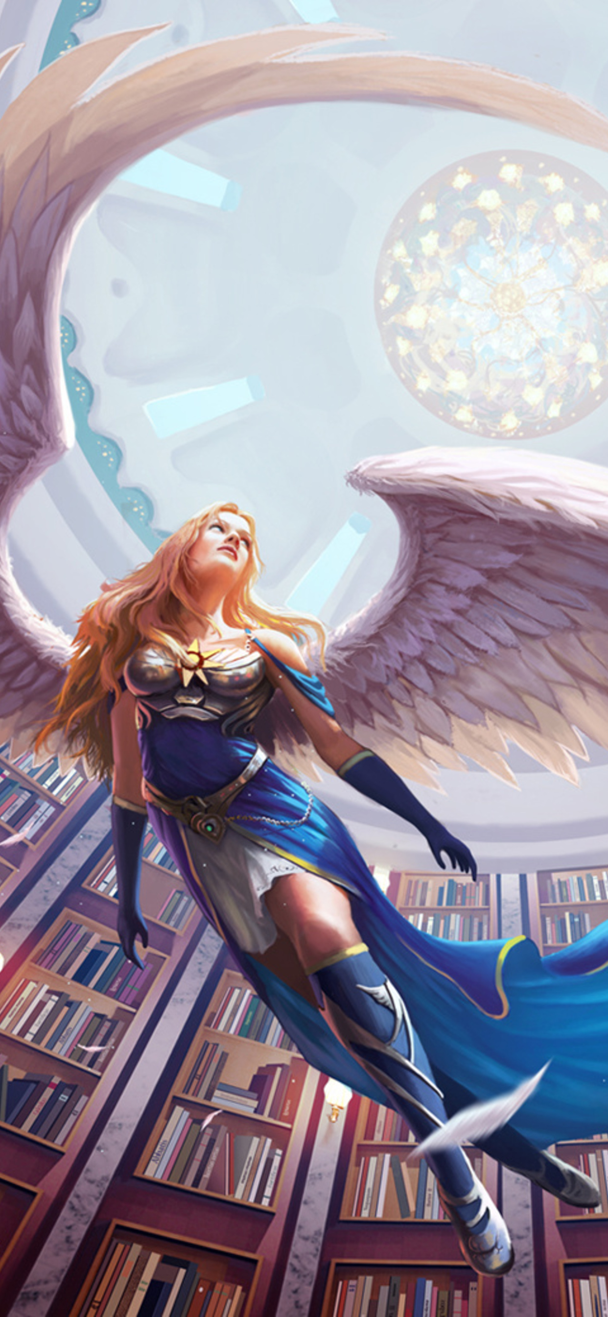 1242x2688 Warrior Angel With Wings Iphone Xs Max Hd 4k