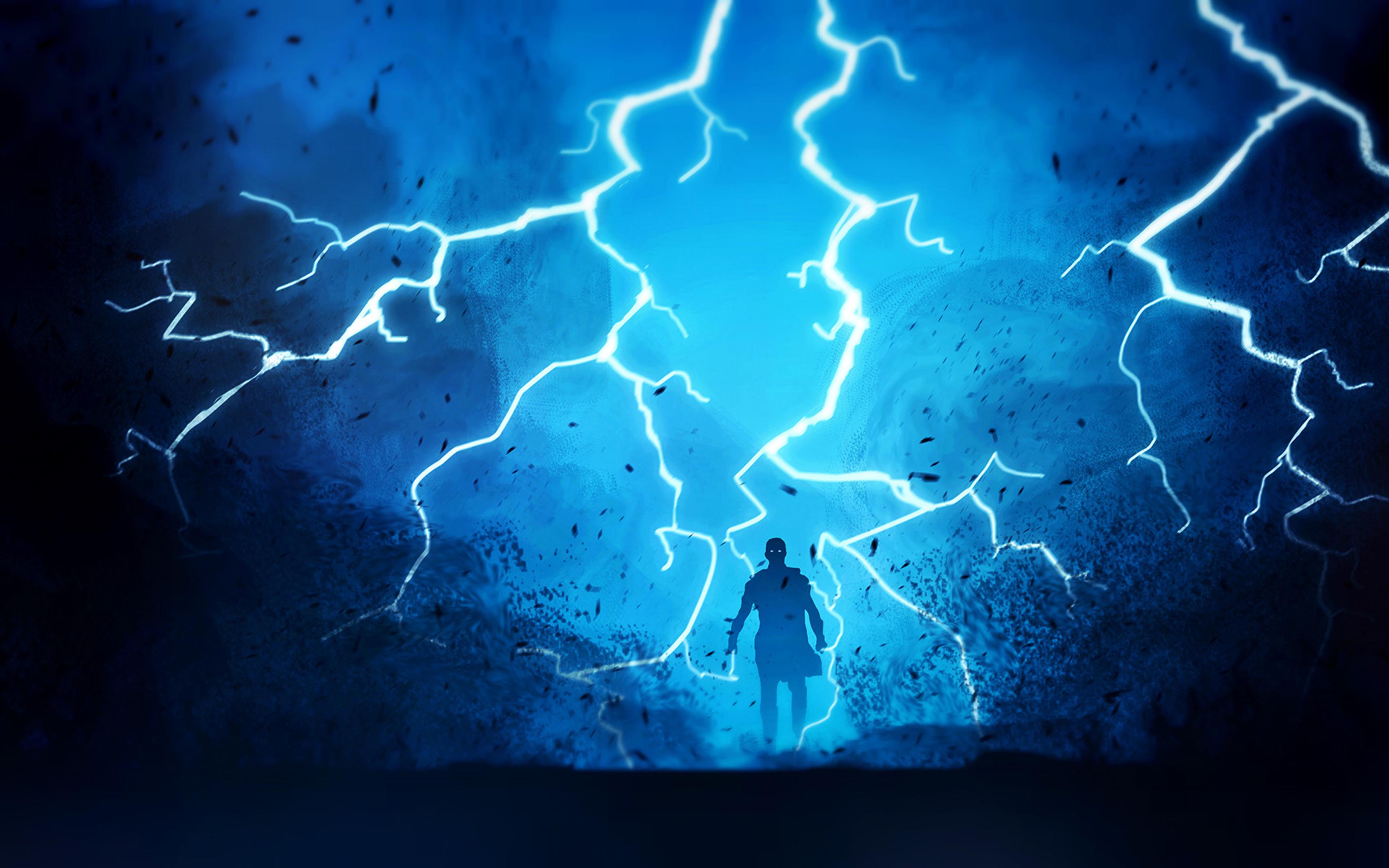 3840x2400 warrior fantasy lightning 4k hd 4k wallpapers images backgrounds photos and pictures - Lightning wallpaper 4k ...