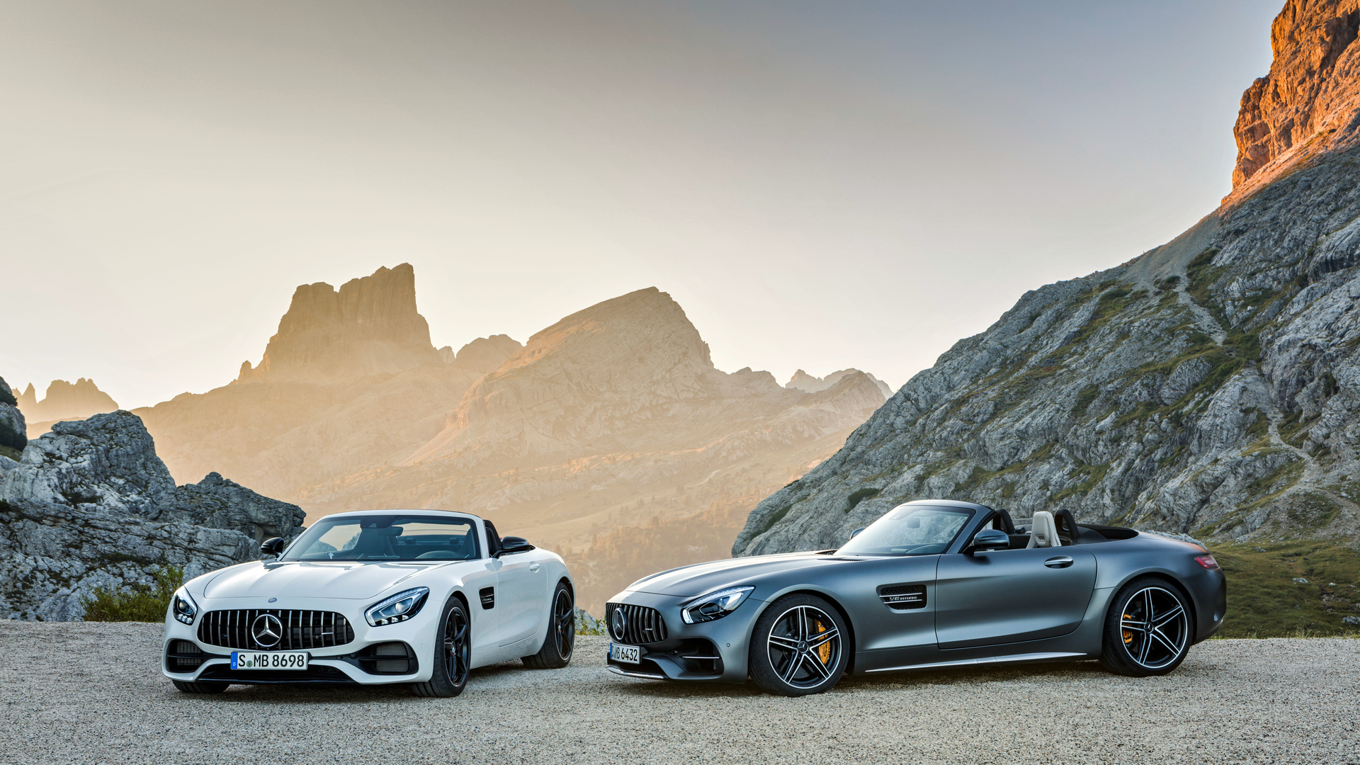 1920x1080 White And Silver Mercedes Benz AMG GT Laptop ...