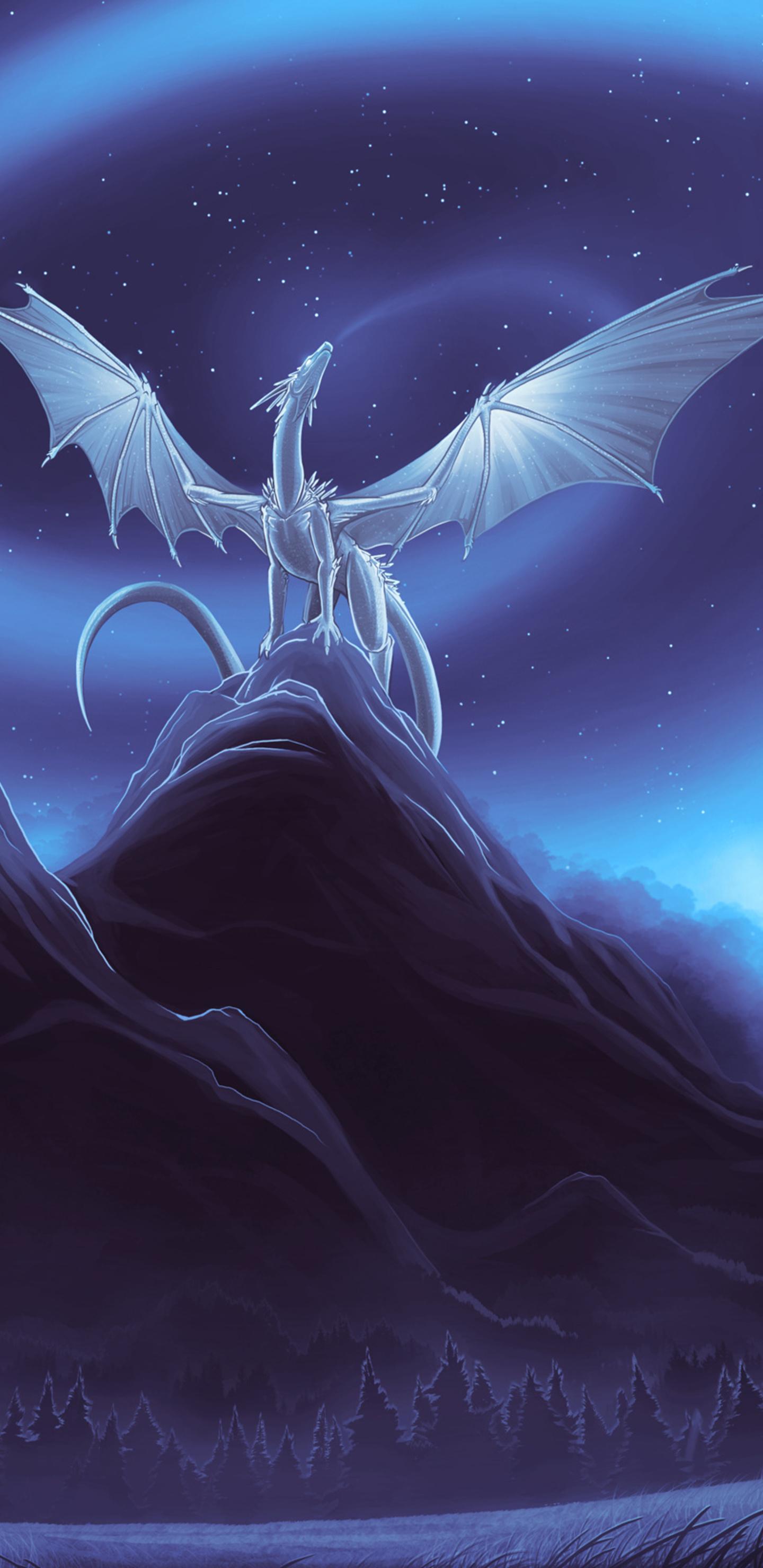 white dragon on mountain 2h