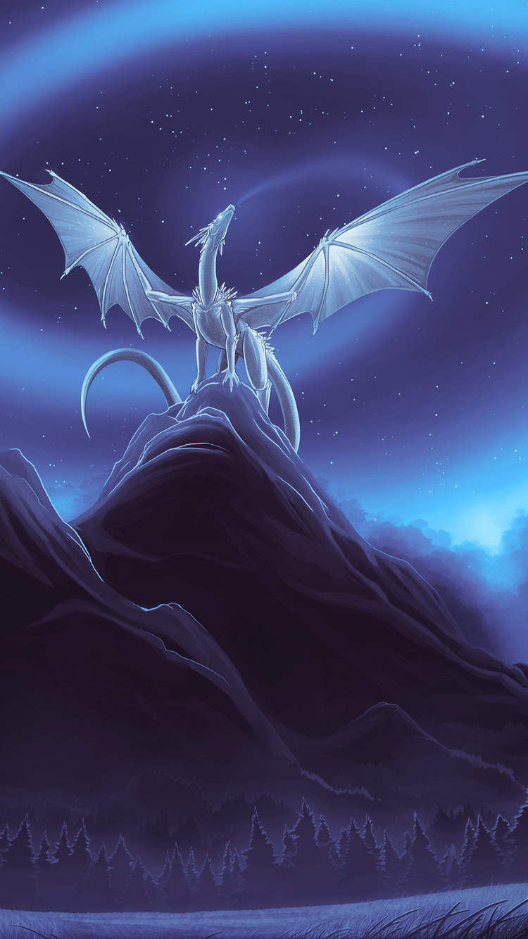 750x1334 White Dragon On Mountain Iphone 6 Iphone 6s