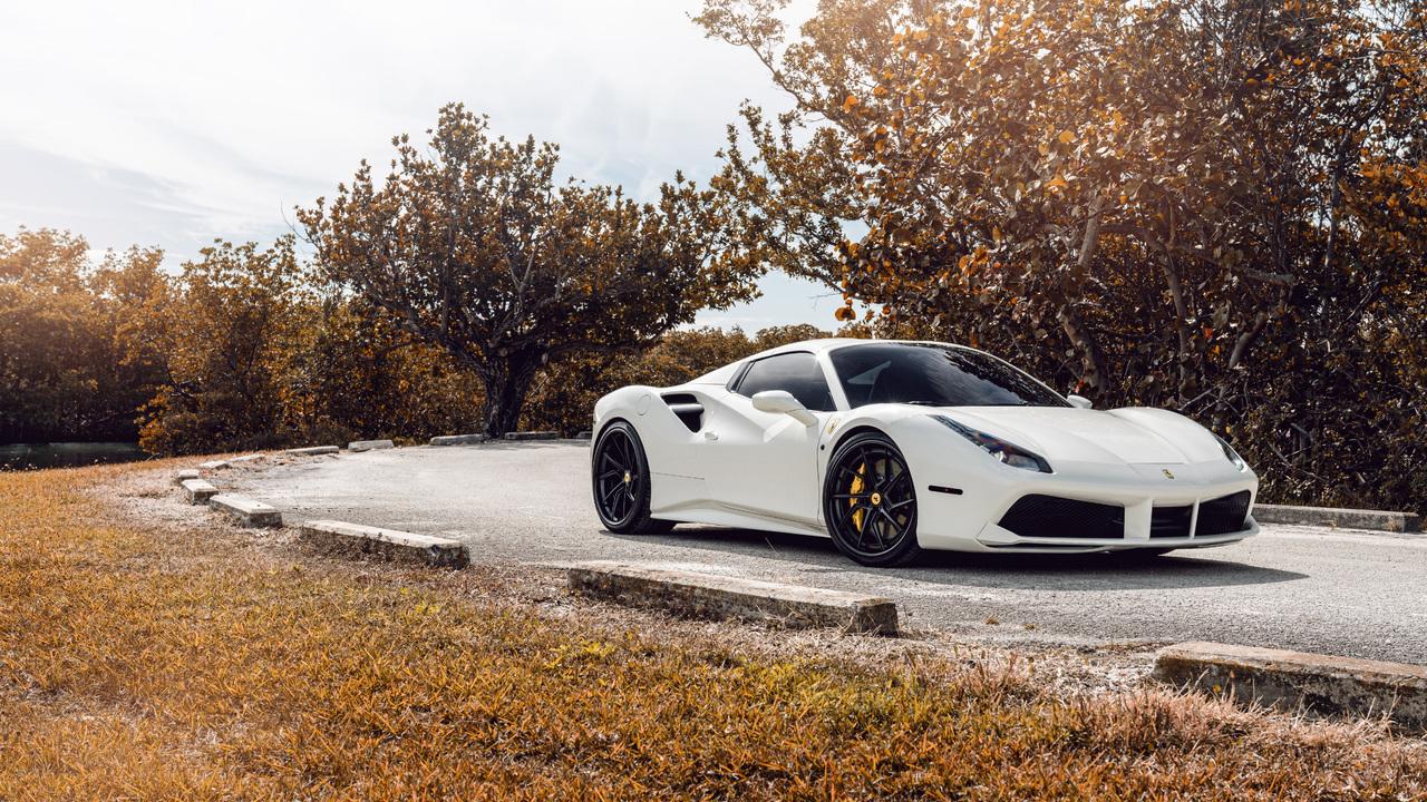 1280x720 White Ferrari 488 8k 720p Hd 4k Wallpapers